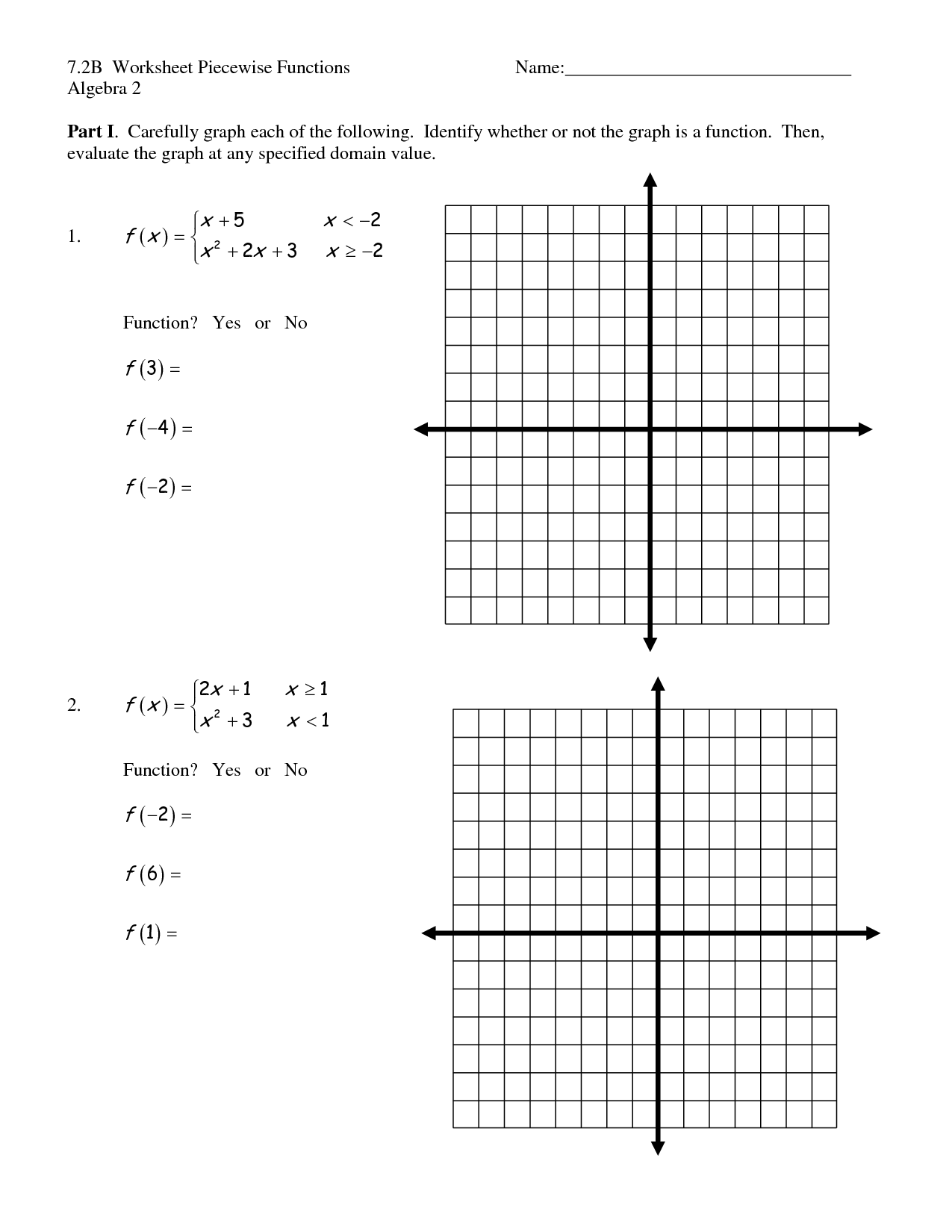 Worksheet Functions Answers