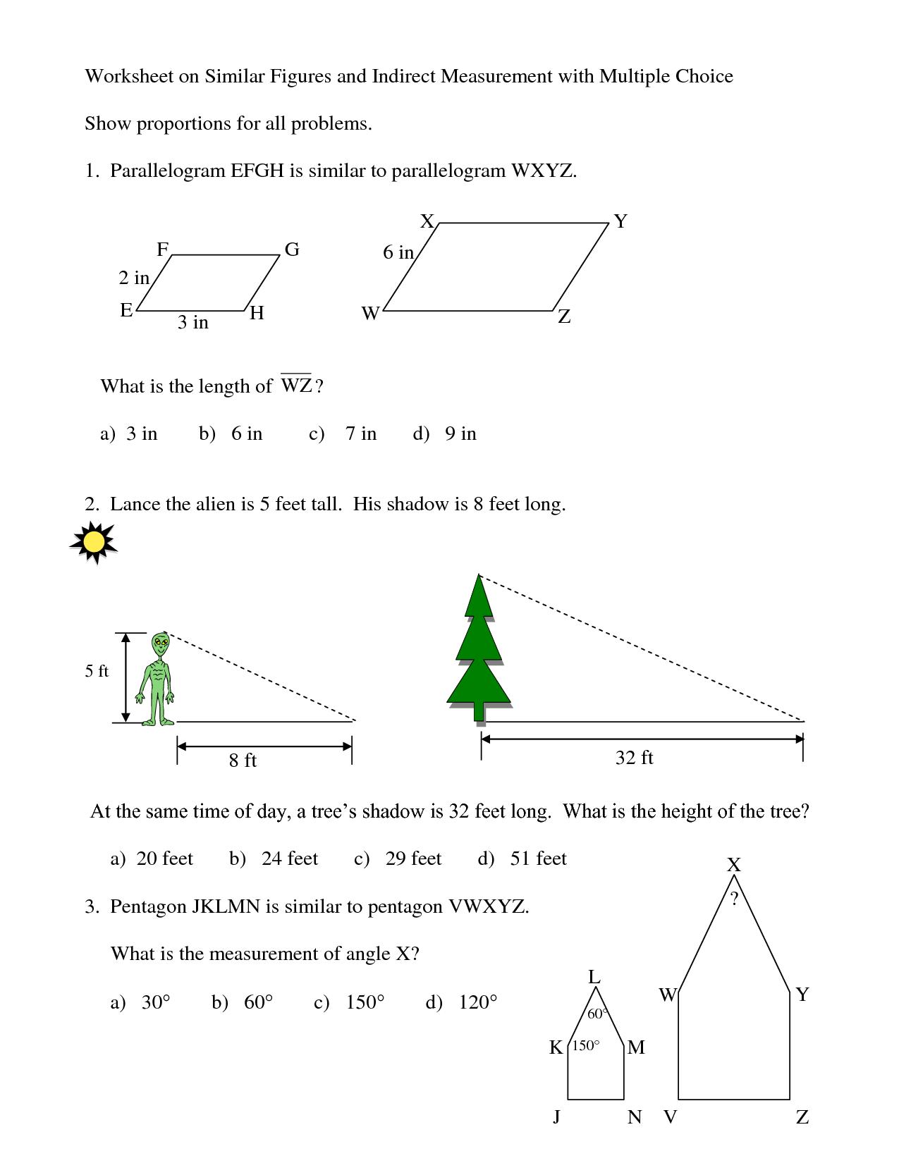 7 Best Images Of Similar Polygons Worksheet