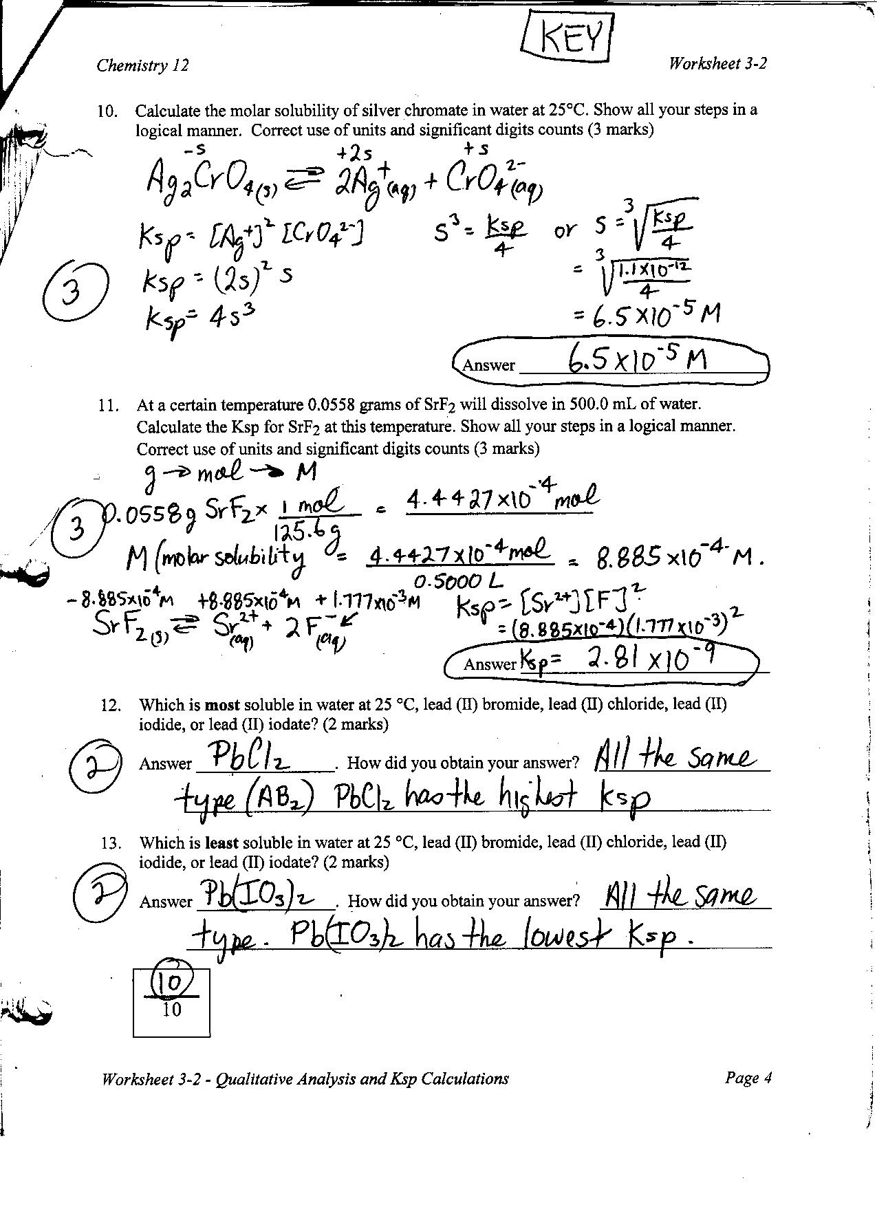Chemistry Worksheet Category Page 1