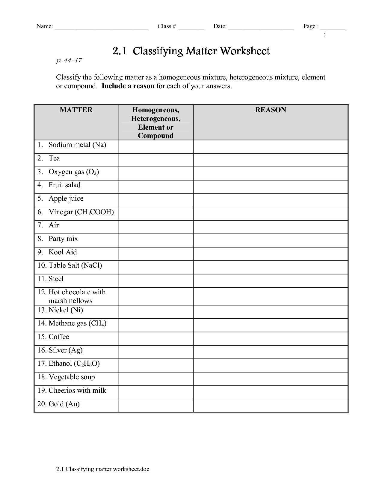 States Matter Worksheet For Kindergarten
