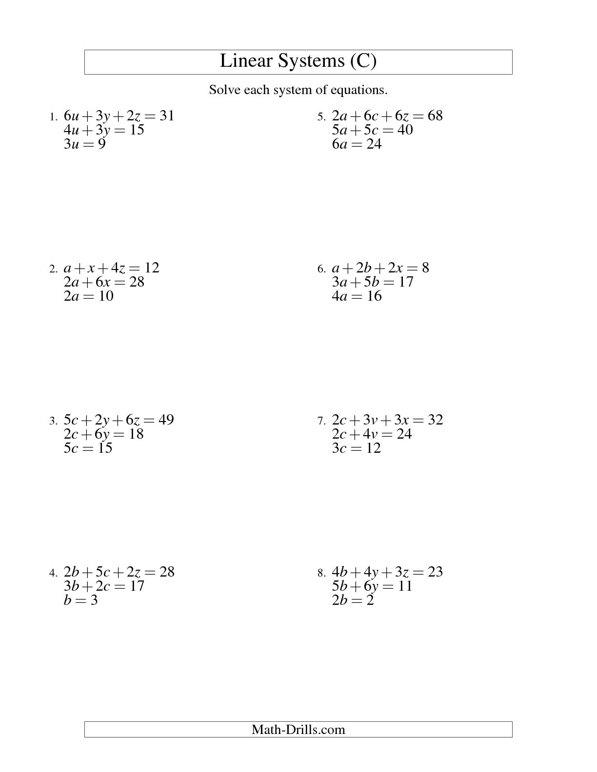 8 Best Images Of Variables In Algebra Worksheet