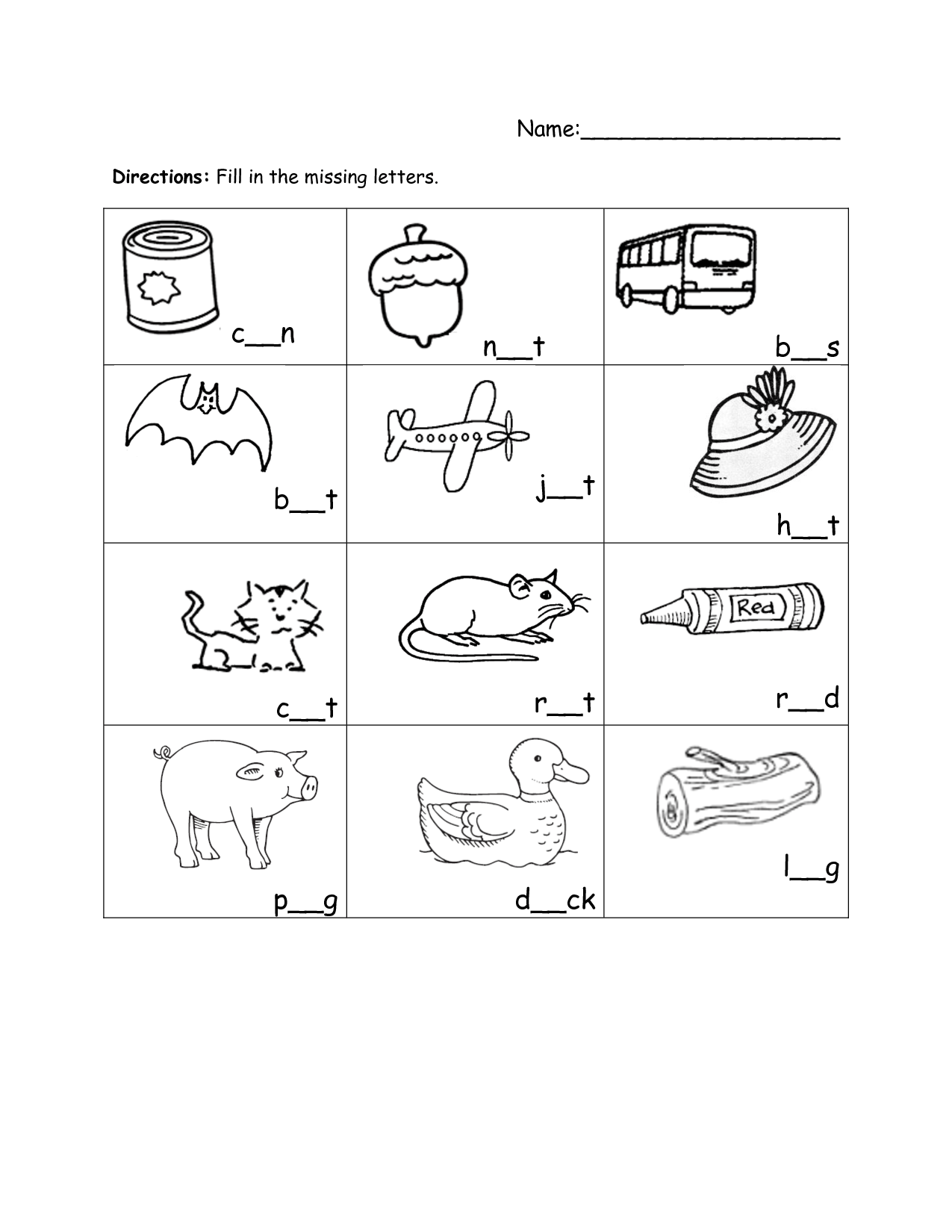 10 Best Images Of Fill In Missing Letter Worksheets