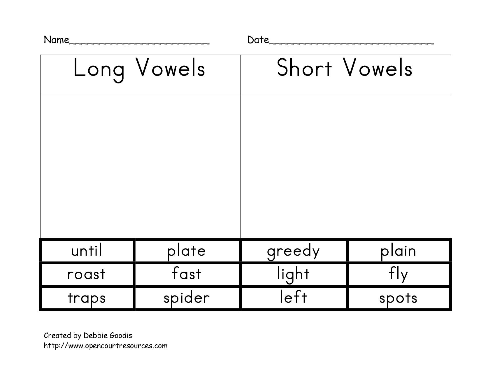 Color Vowel Worksheet