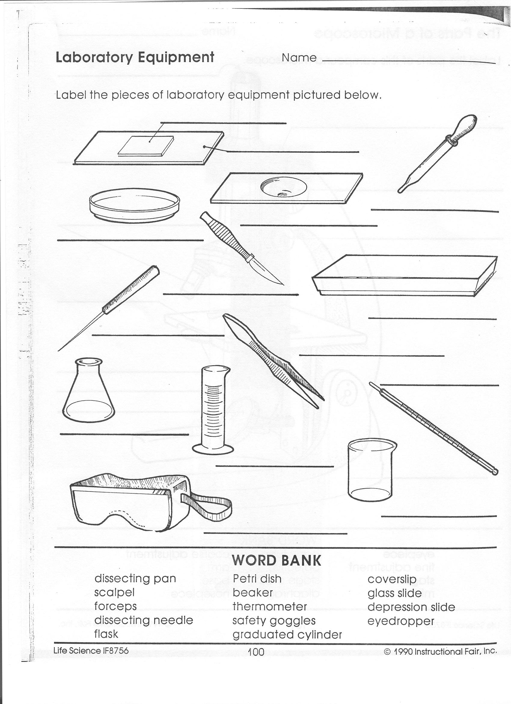 Lab Safety Symbols Worksheet Answers