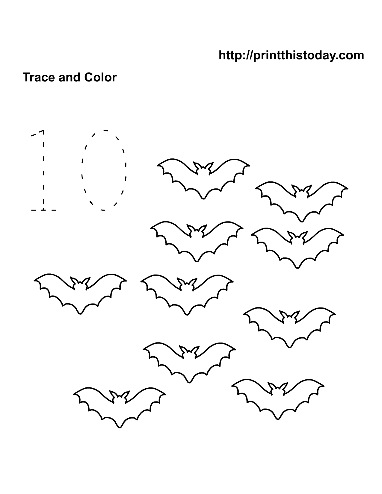 9 Best Images Of Bat Counting Worksheets