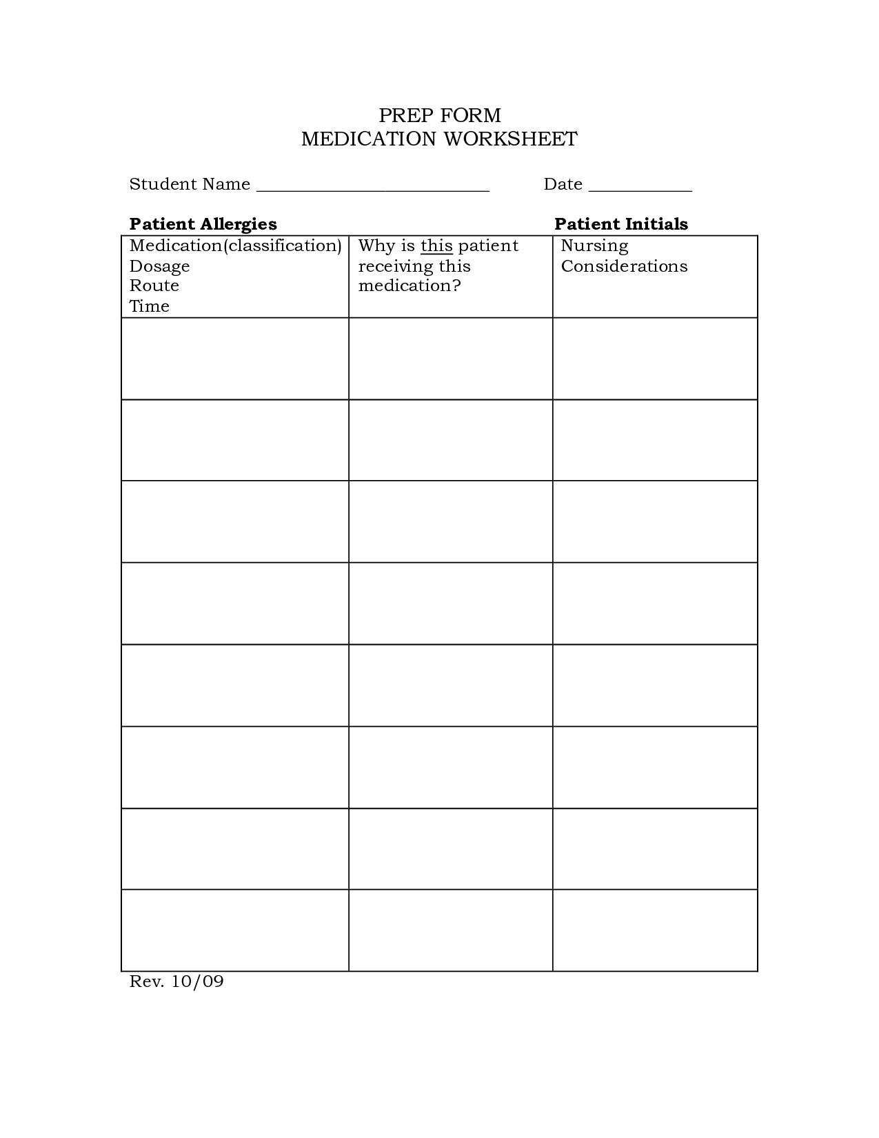 16 Best Images Of Free Printable Drug Worksheets