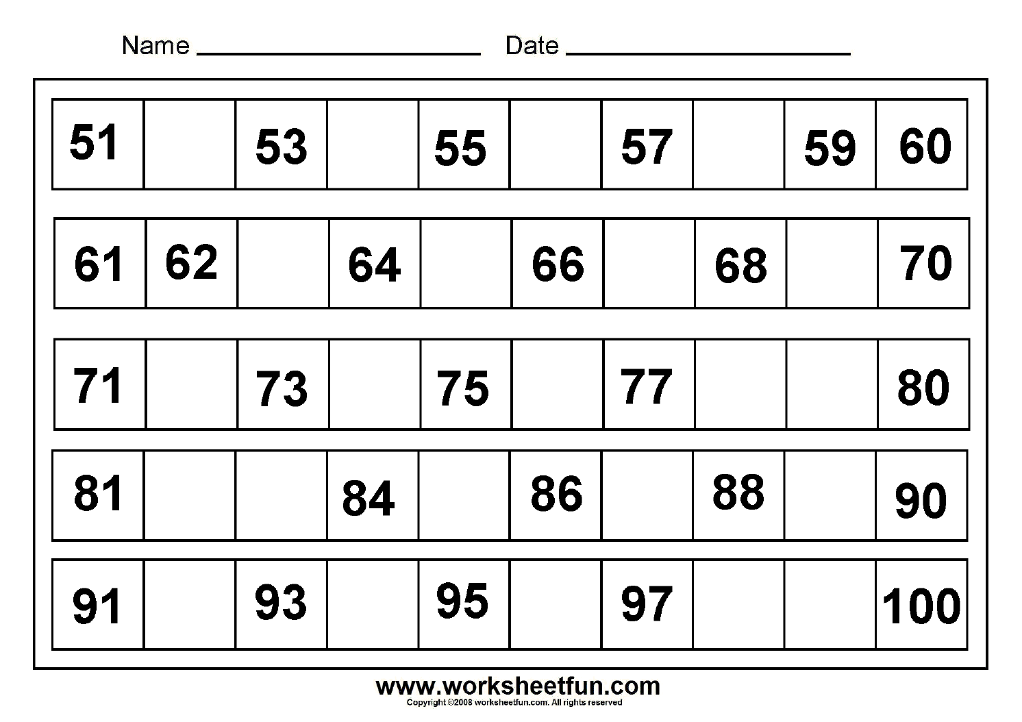 Number Worksheet Category Page 68