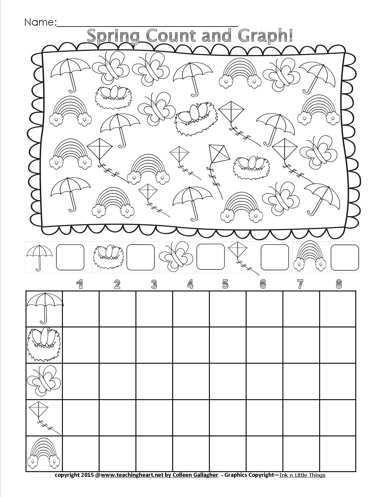 Shapes Math Worksheet Graph