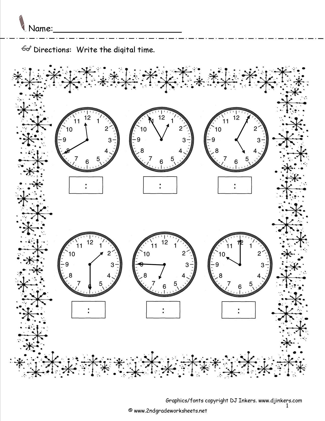 Clock Problems Worksheet