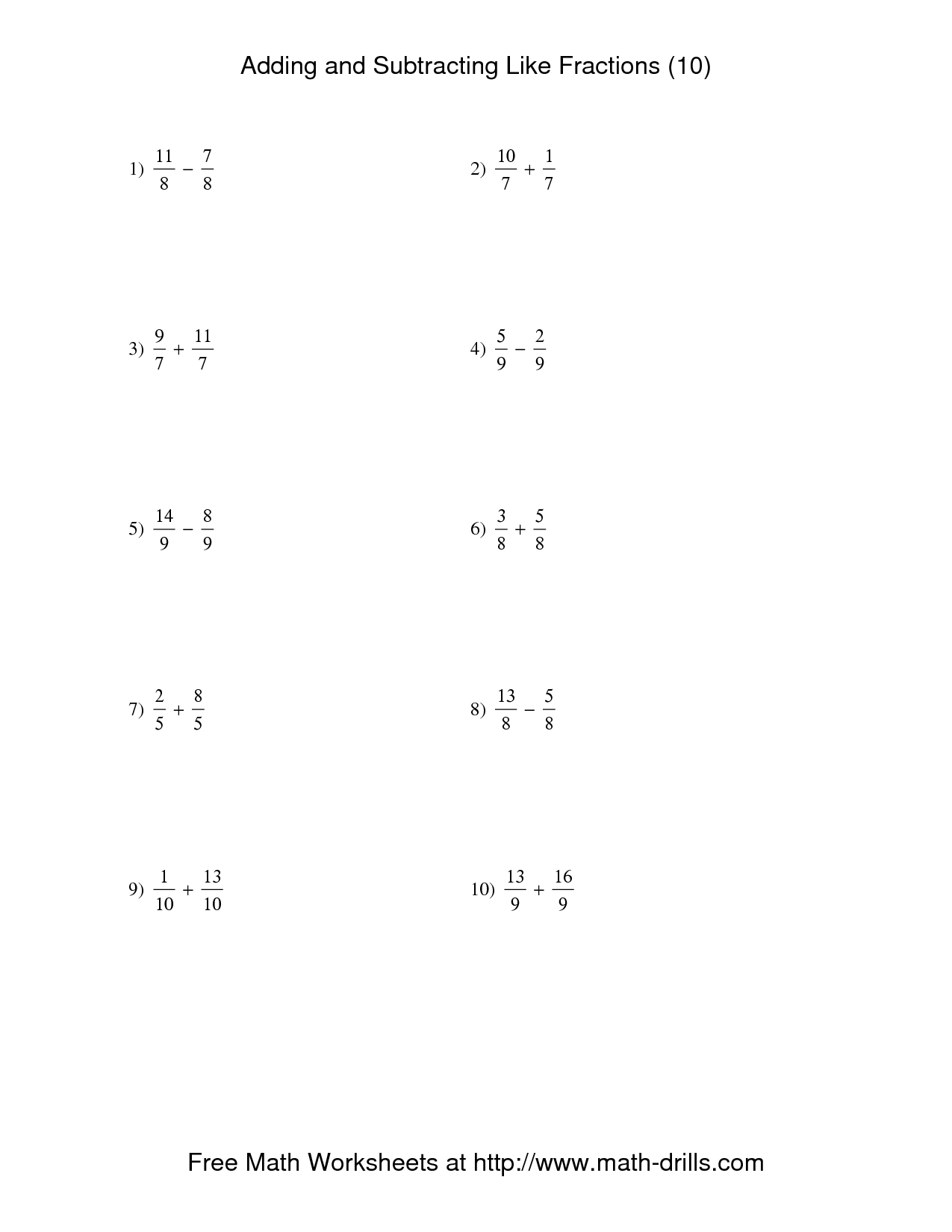 Adding And Subtracting Integers Worksheets Kuta