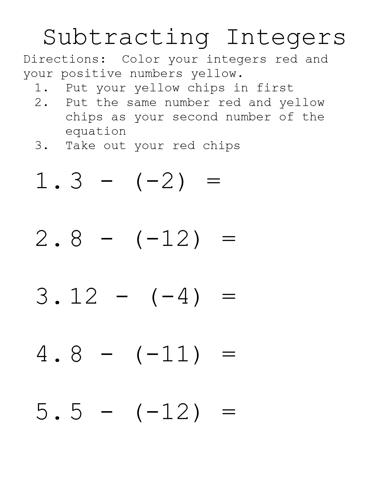 Adding And Subtracting Polynomials Math Worksheet Go