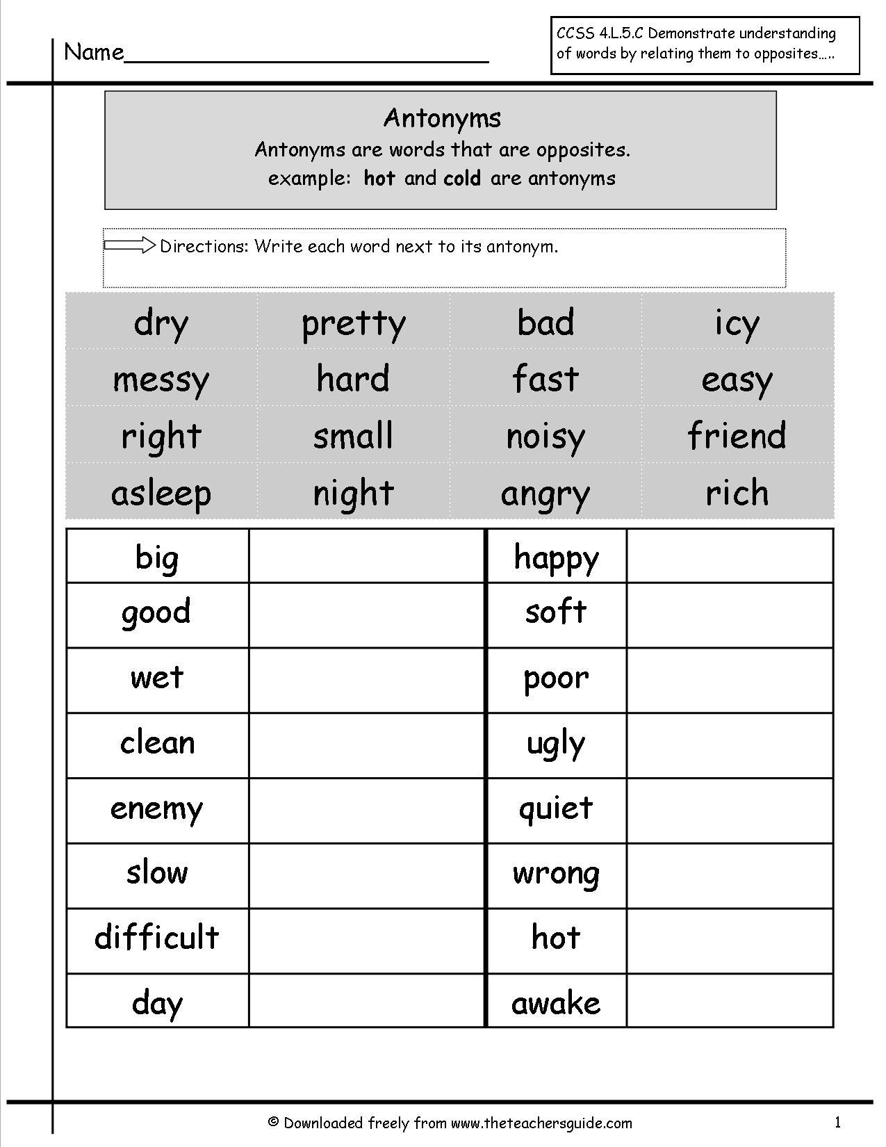 15 Best Images Of Free Grammar Worksheets Compound