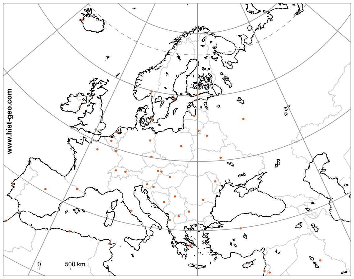 European Continent Worksheet