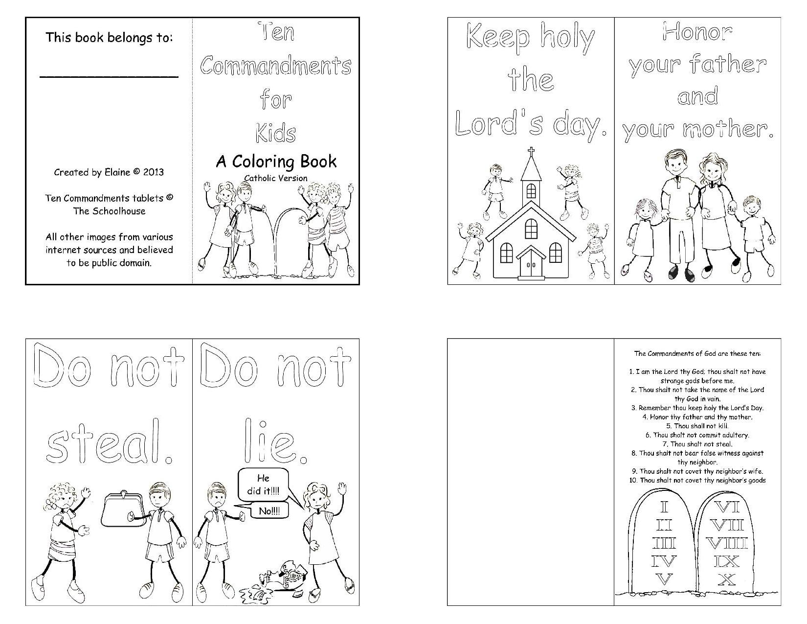 11 Best Images Of 10 Commandments Catholic Kids Worksheets