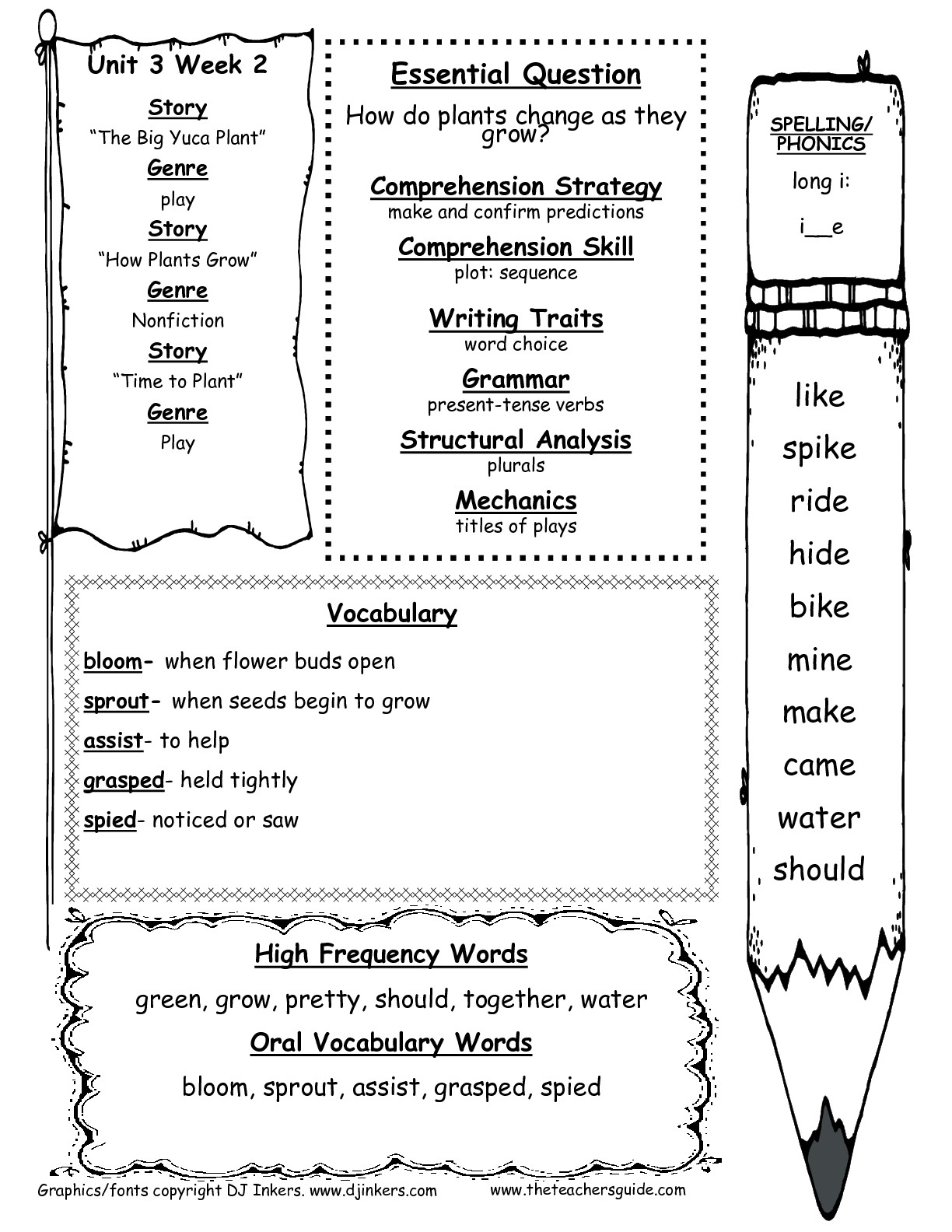 Language Arts 1st Grade Worksheet