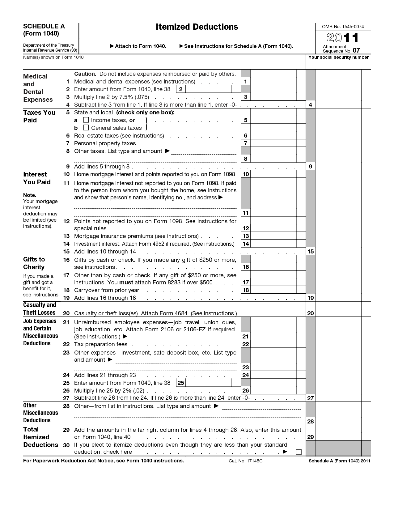 8 Best Images Of Tax Itemized Deduction Worksheet