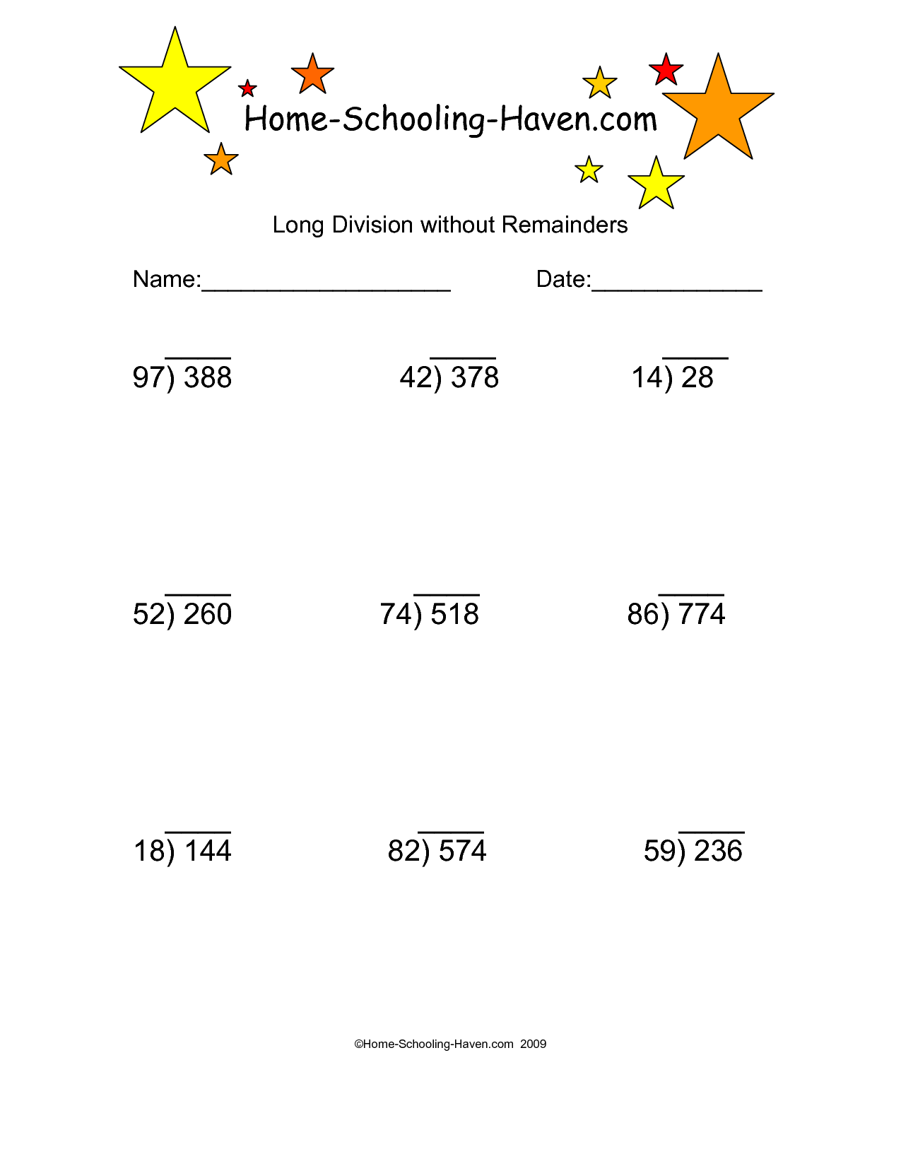 15 Best Images Of Long Division With Remainders Worksheets