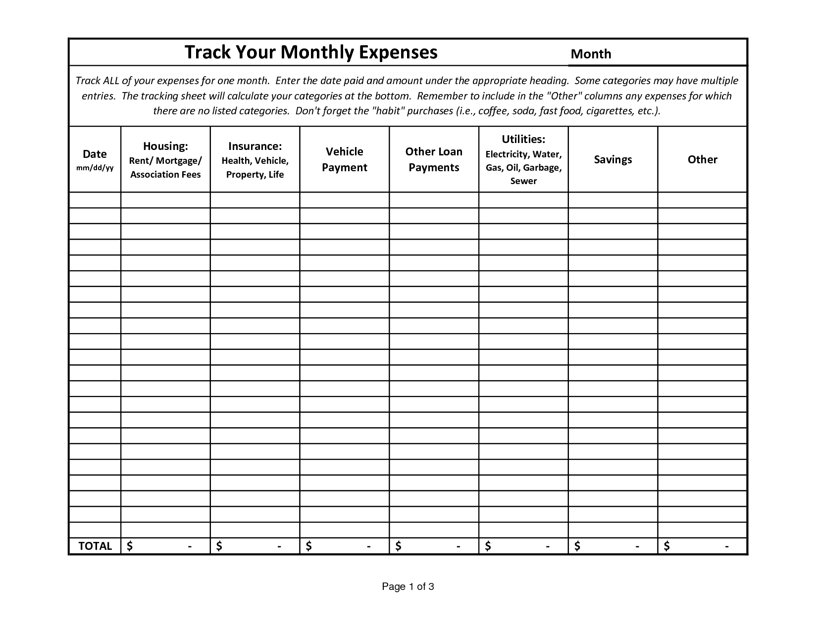 19 Best Images Of Money Tracking Worksheet