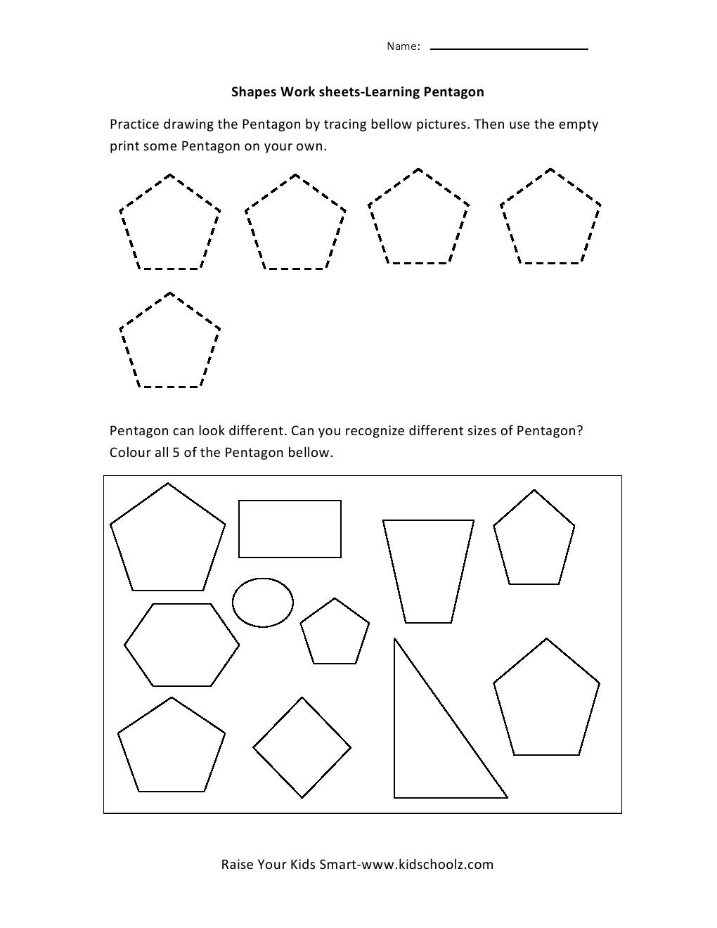 Thebrownfaminaz Octagon Worksheet For Preschoolers