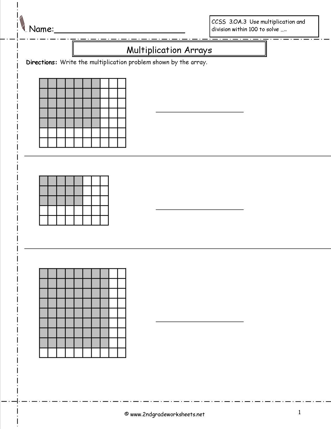 15 Best Images Of Division As Arrays Worksheet