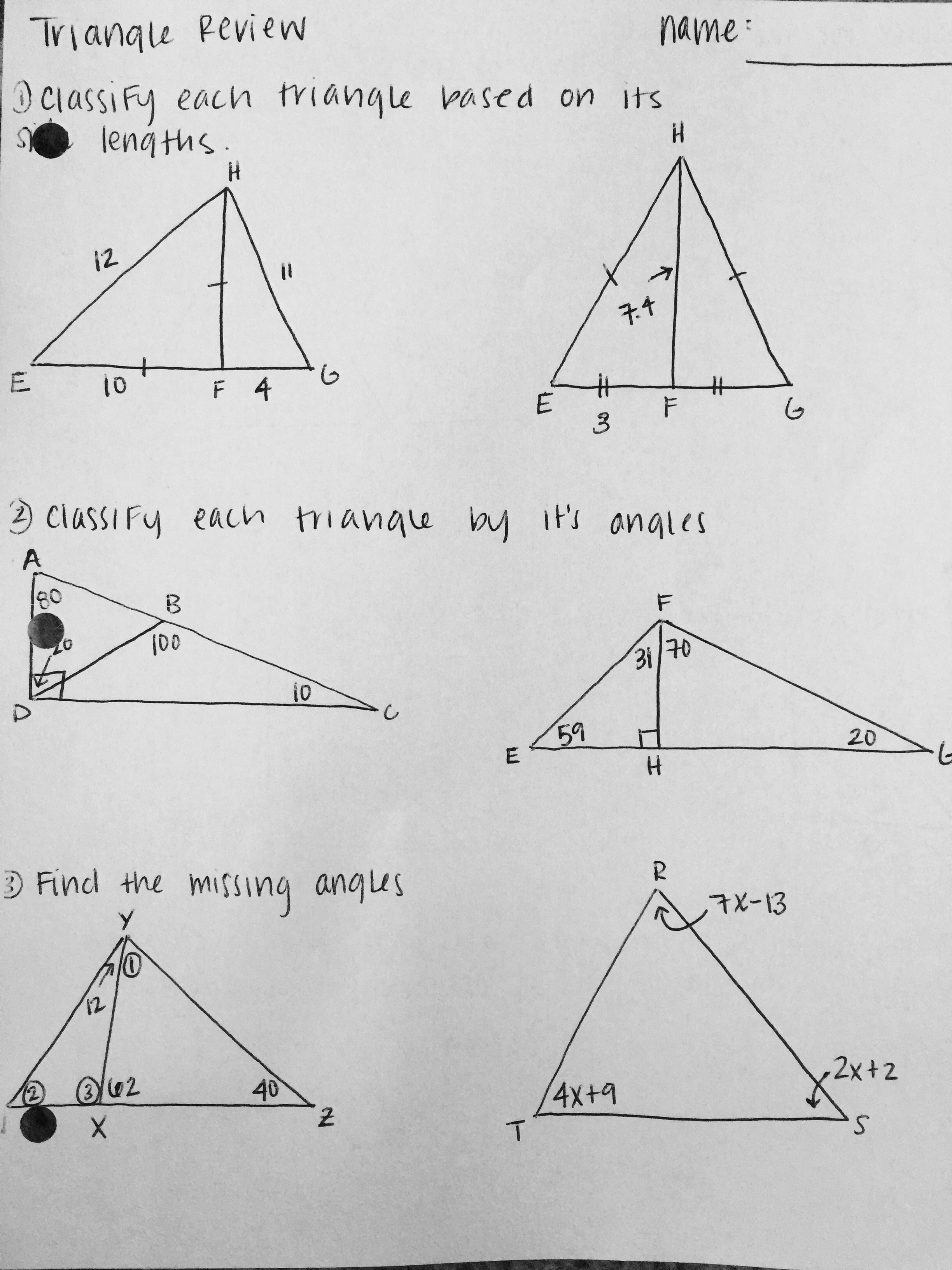 Math Congruent Triangles Worksheet