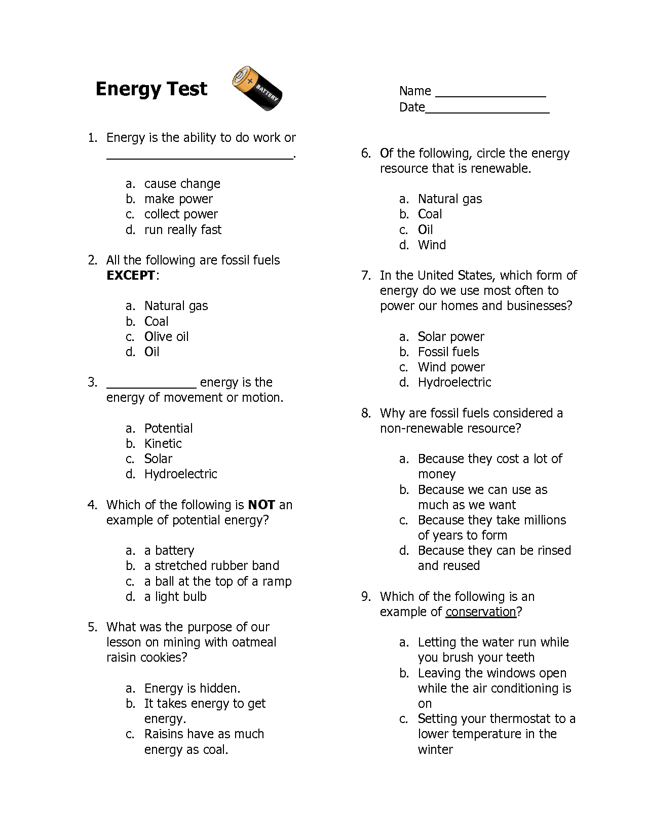 3rd Grade Worksheet Category Page 1
