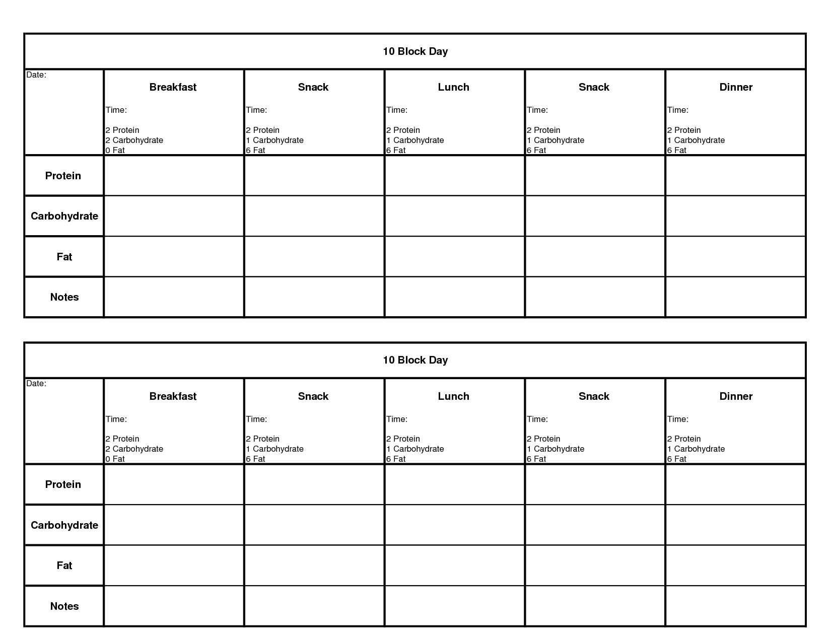 18 Best Images Of Meal Planning Worksheet