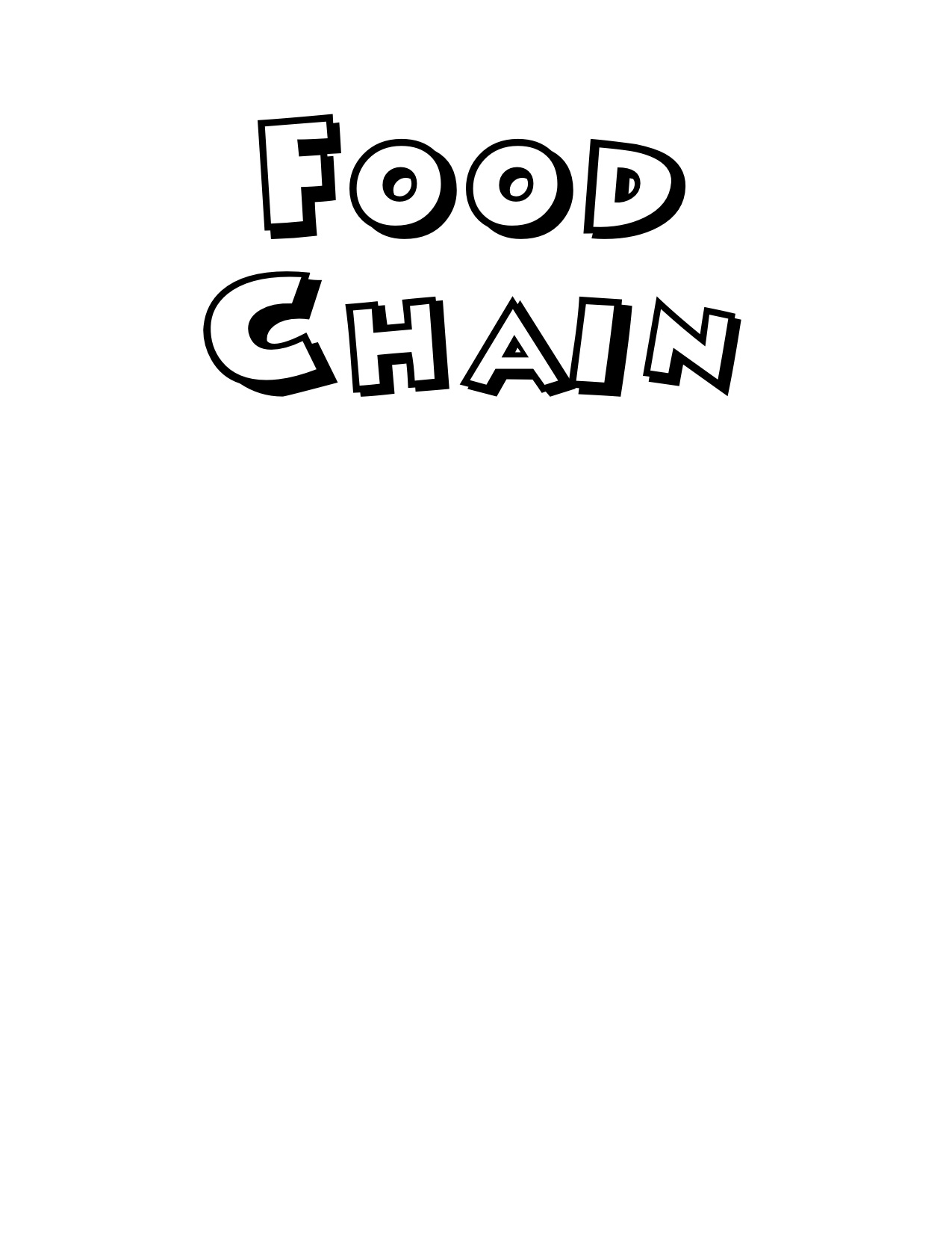 9 Best Images Of Food Chain Worksheets For Kindergarten