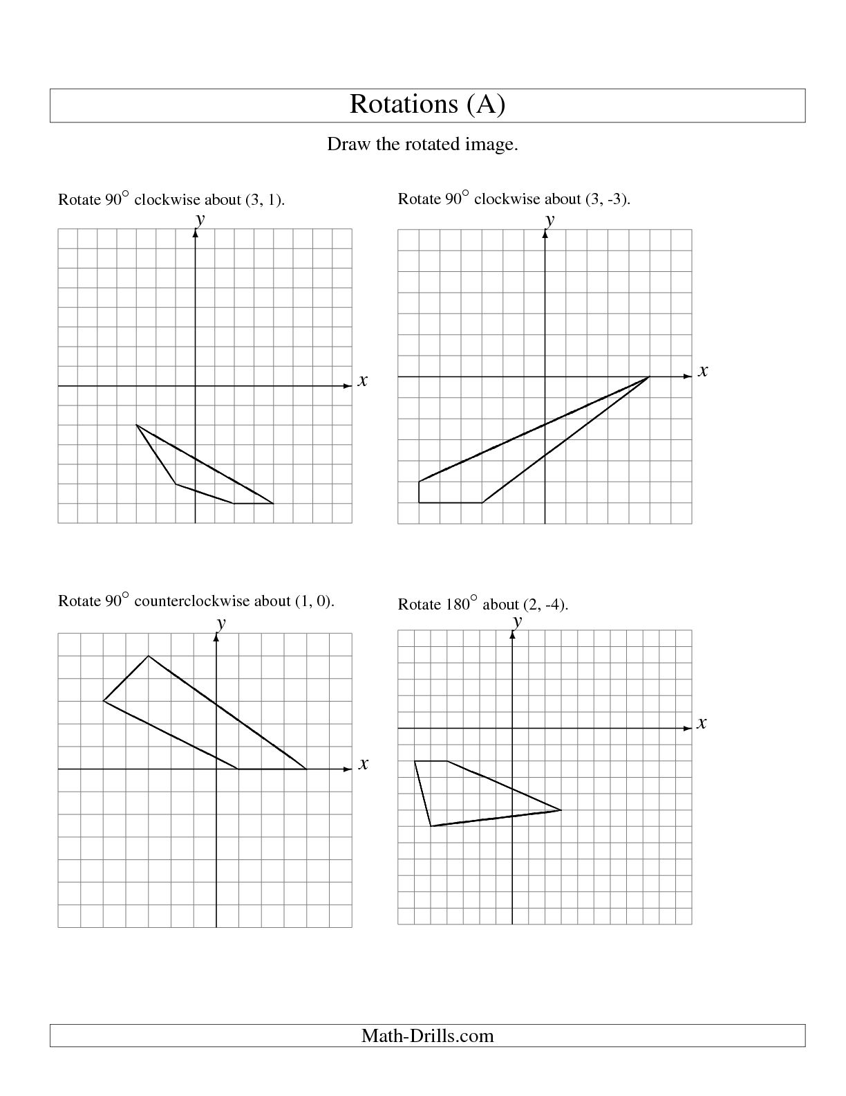 17 Best Images Of Rotation Math Worksheets