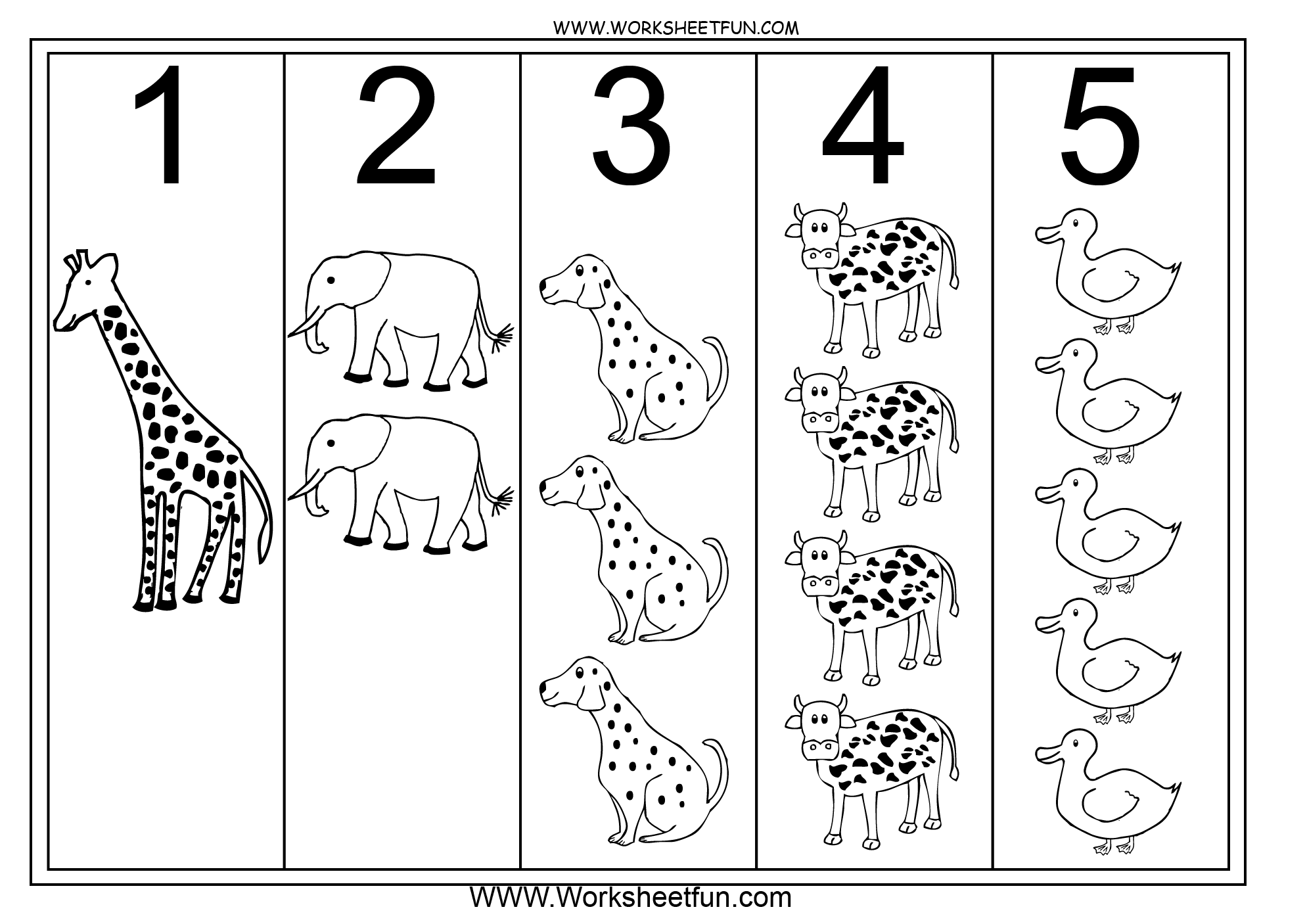 15 Best Images Of Numbers 1 Through 5 Worksheet