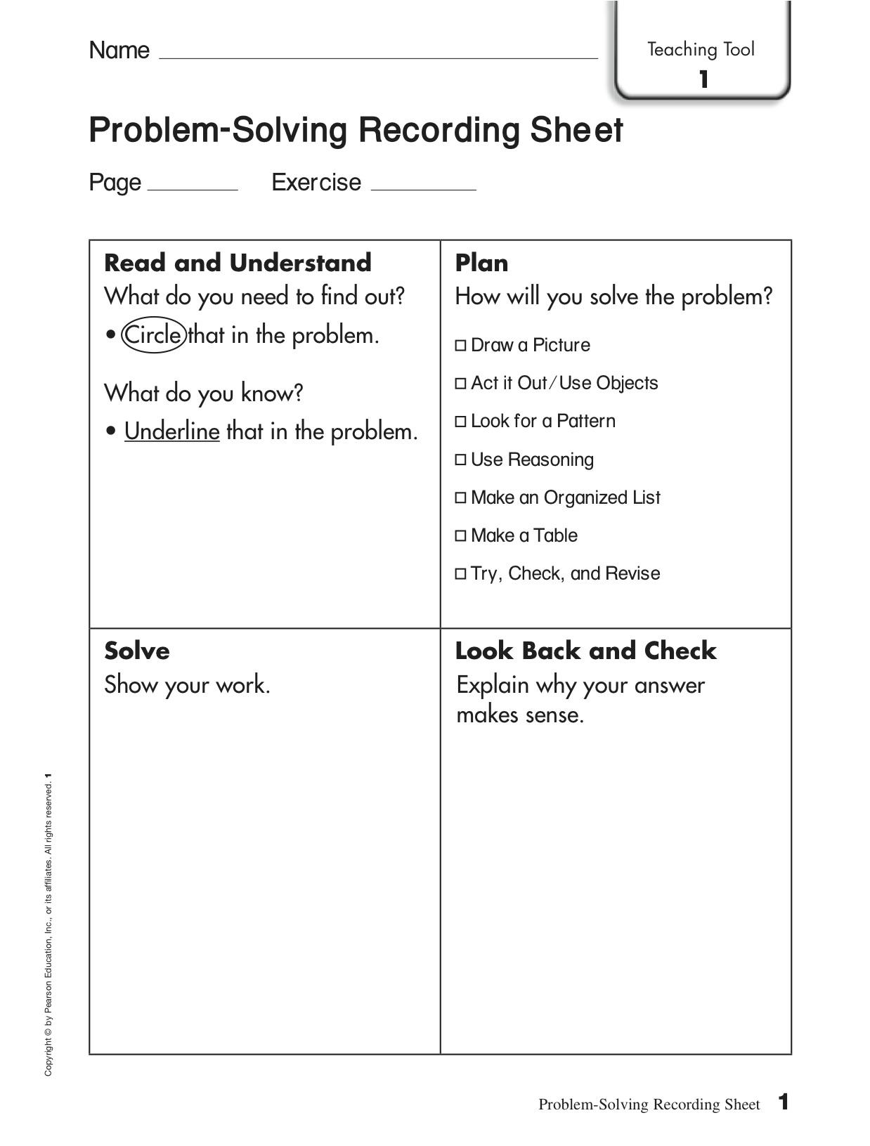 12 Best Images Of Social Problem Solving Worksheets