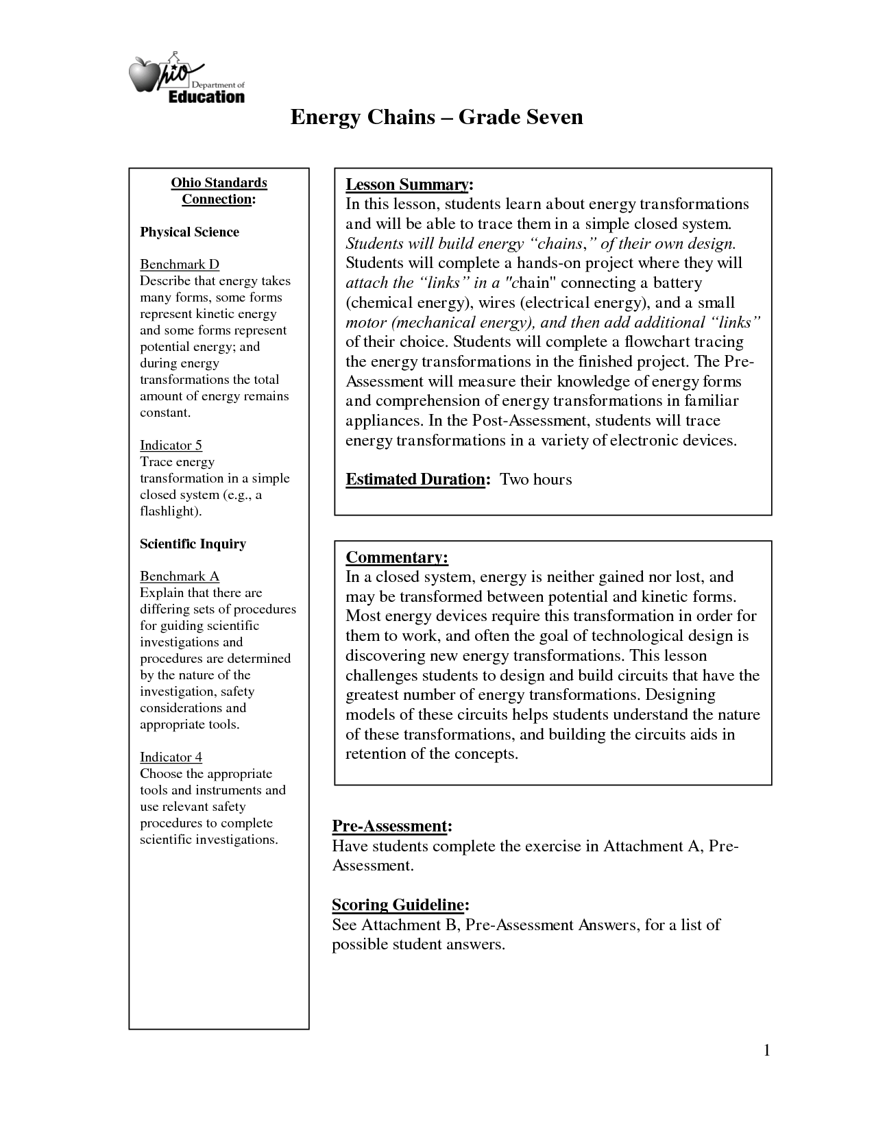 14 Best Images Of Science Energy Worksheets