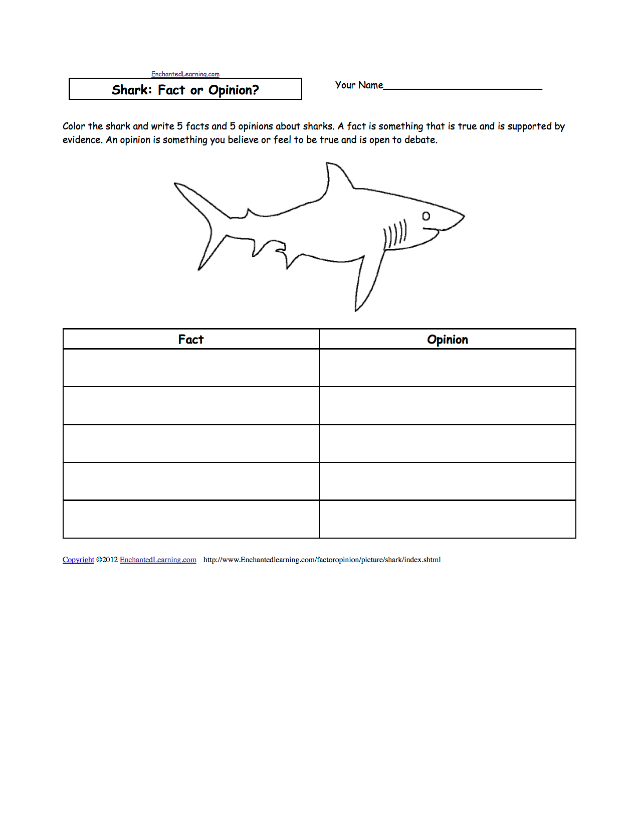 15 Best Images Of Sharks Worksheets Elementary