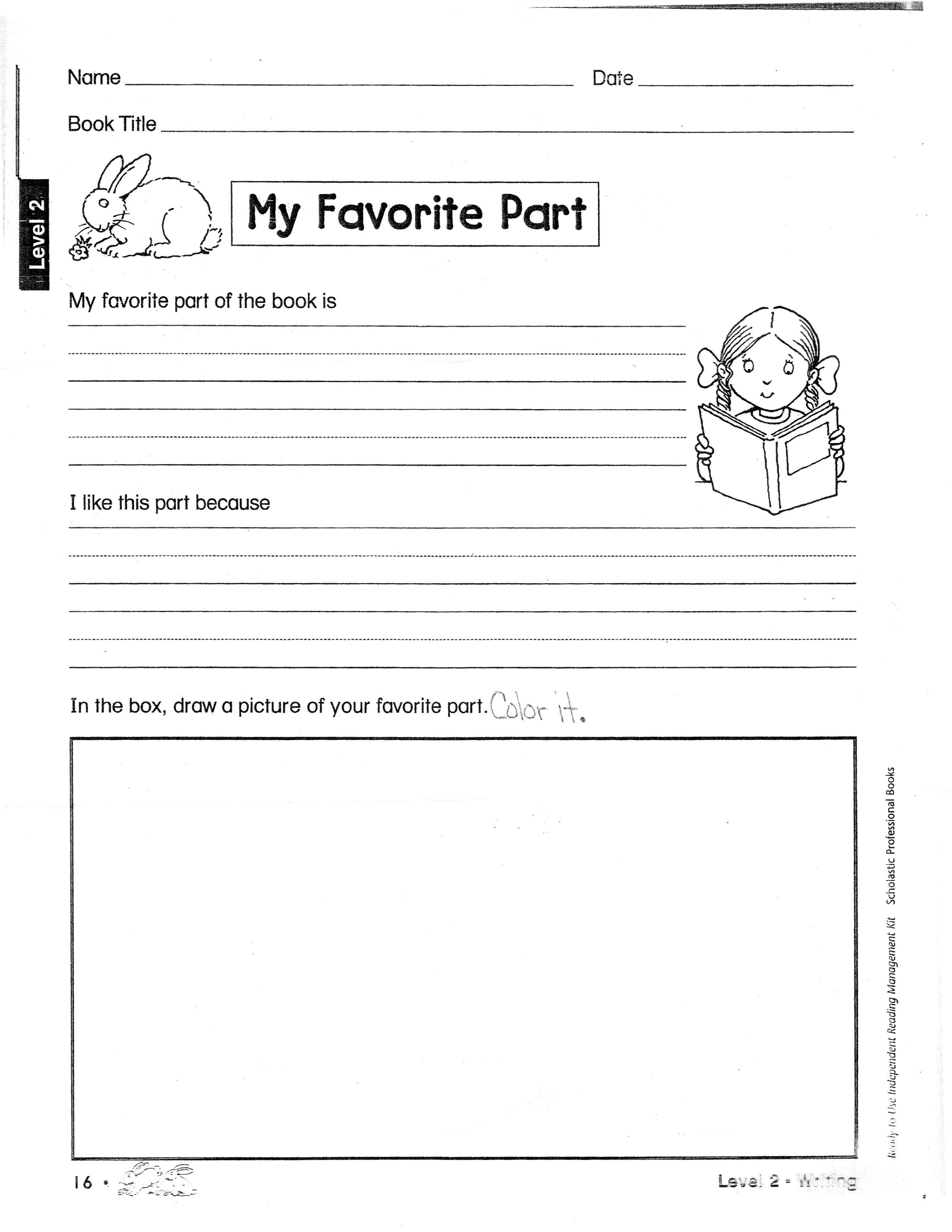 16 Best Images Of Fun Book Report Worksheets