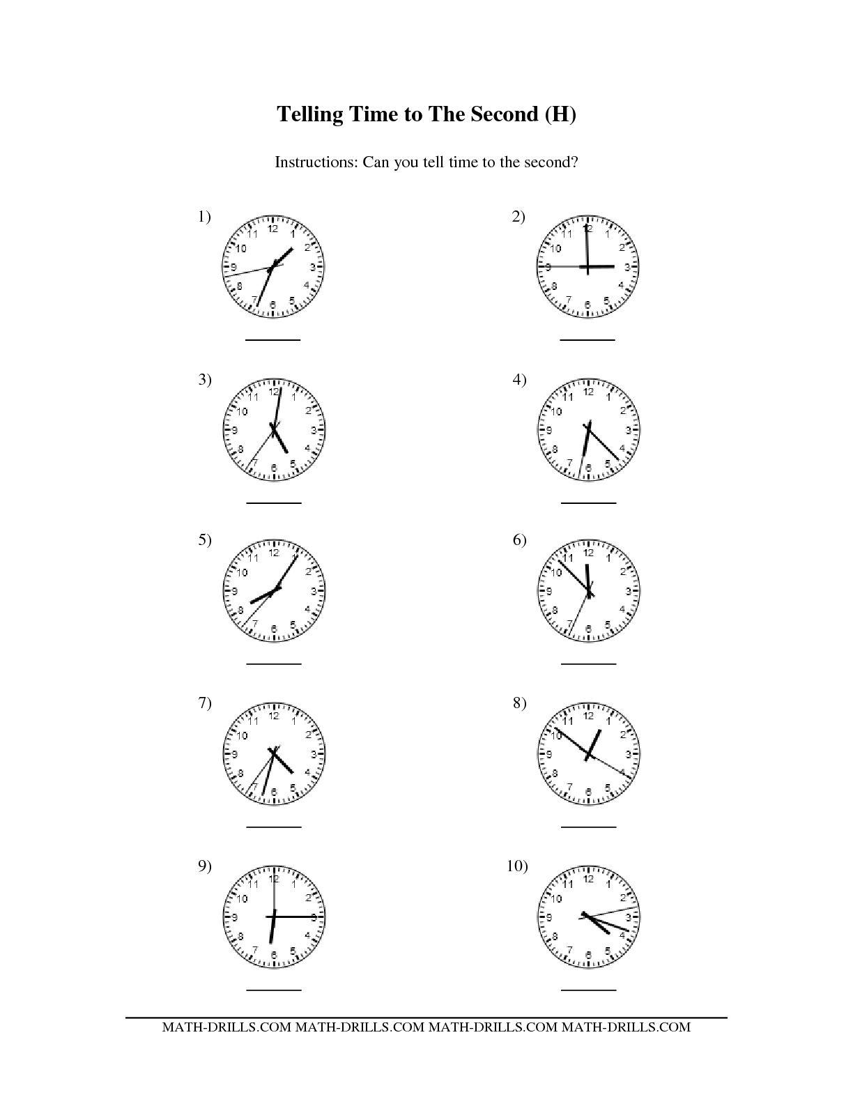 16 Best Images Ofog Time Worksheets