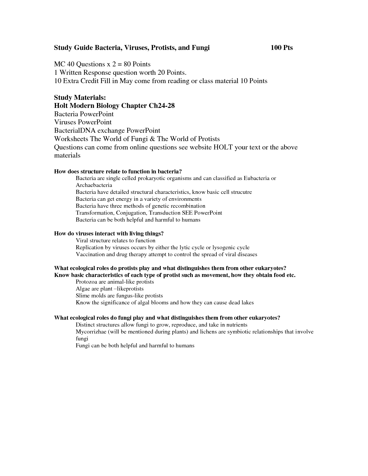 Worksheets Bacteria And Viruses Worksheet Worksheets