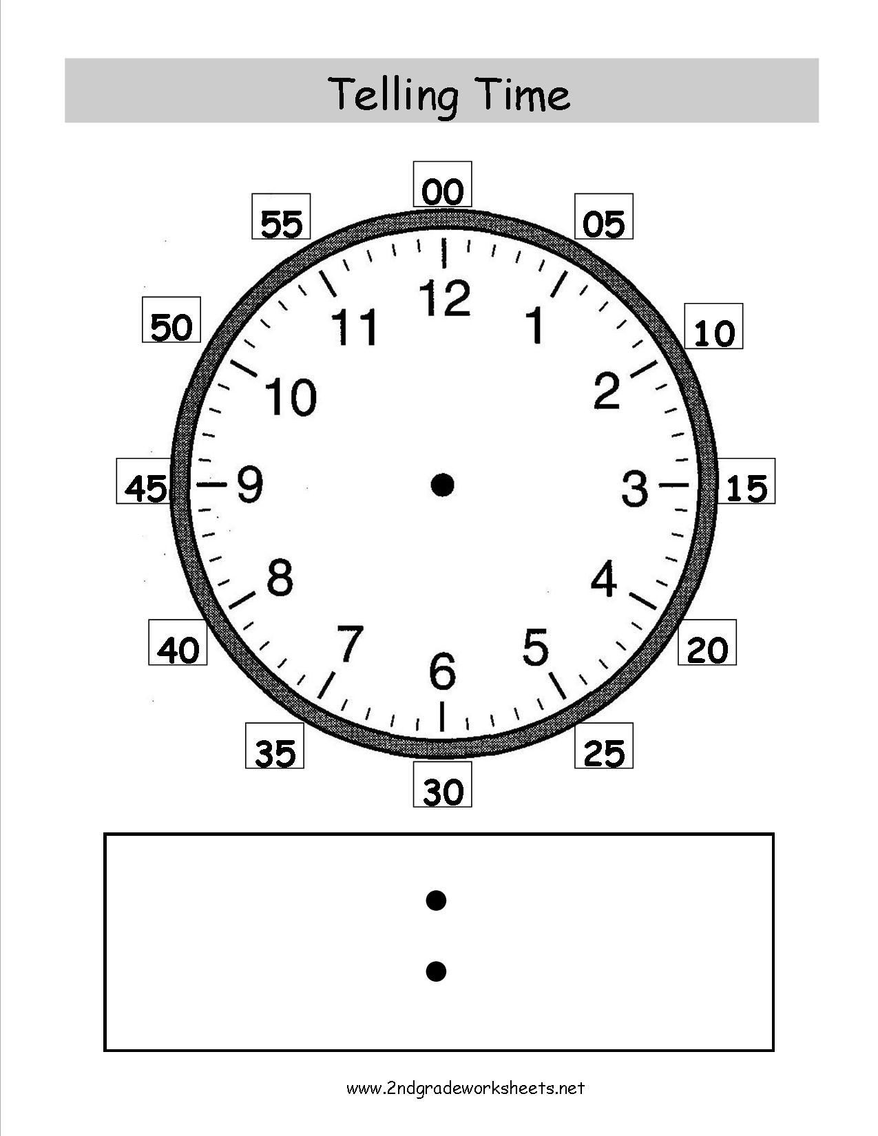 14 Best Images Of Printable Clock Worksheets Grade 2