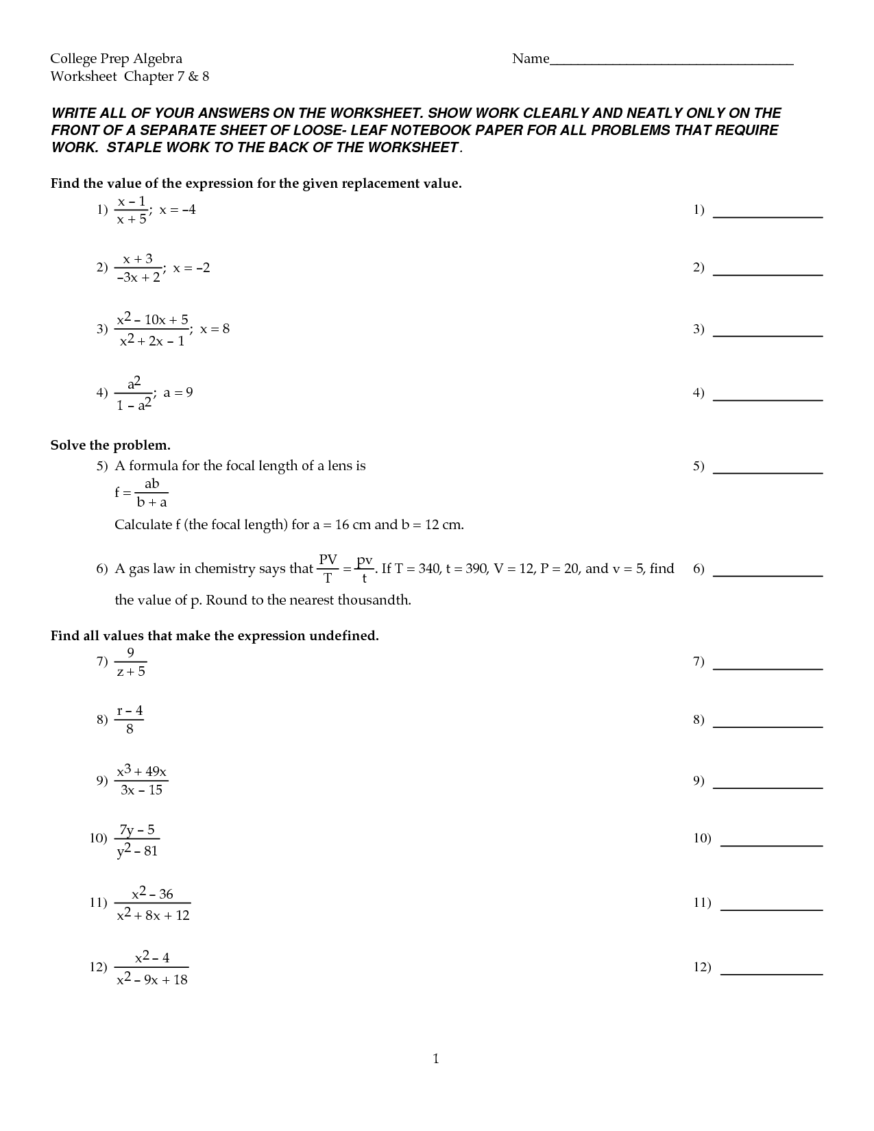 13 Best Images Of College English 1 Worksheets