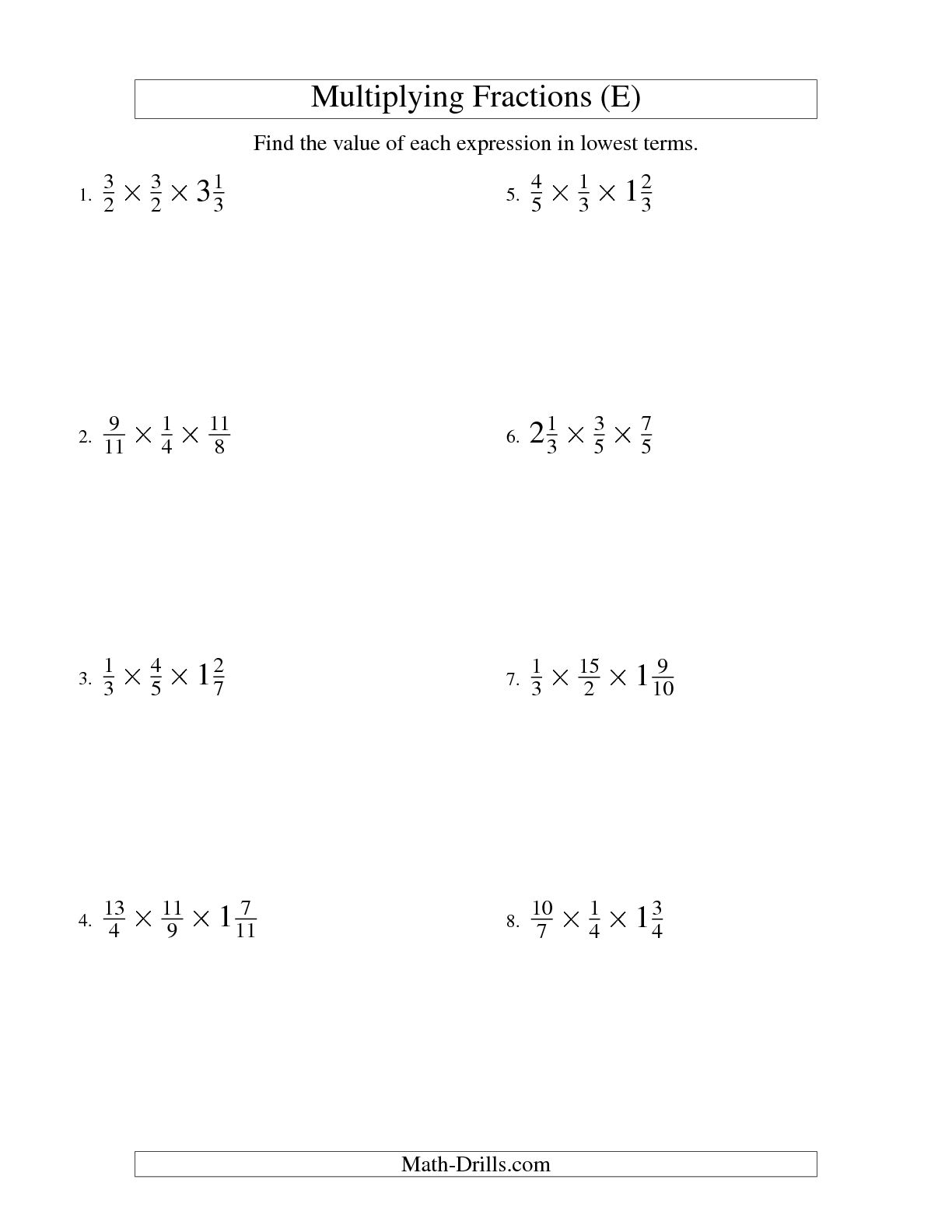 11 Best Images Of Simplifying Mixed Fractions Worksheet