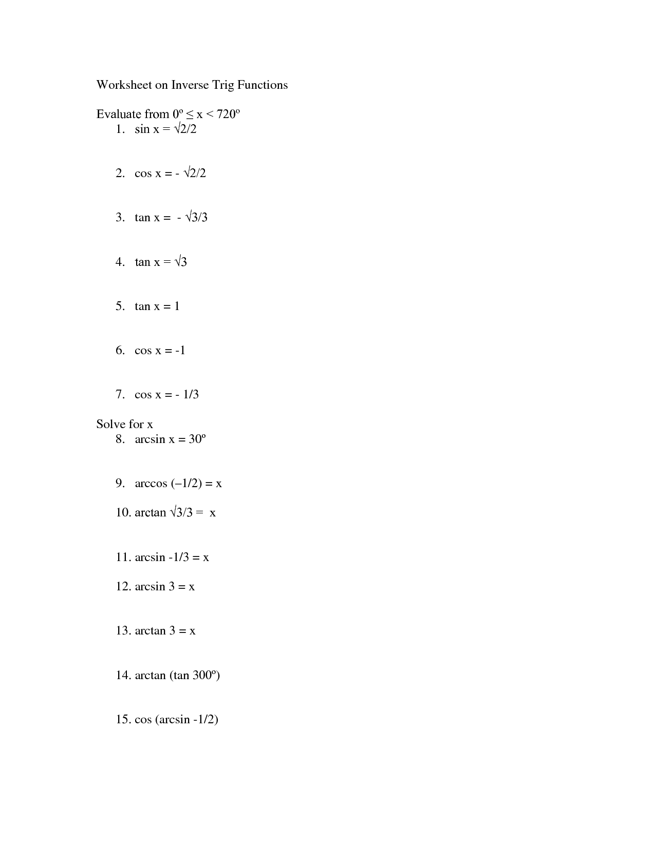 9 Best Images Of Inverse Functions Algebra 2 Worksheets