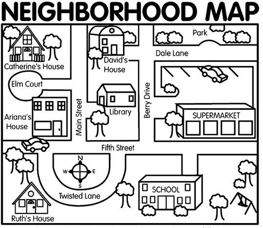 Map Playground Coloring Pages