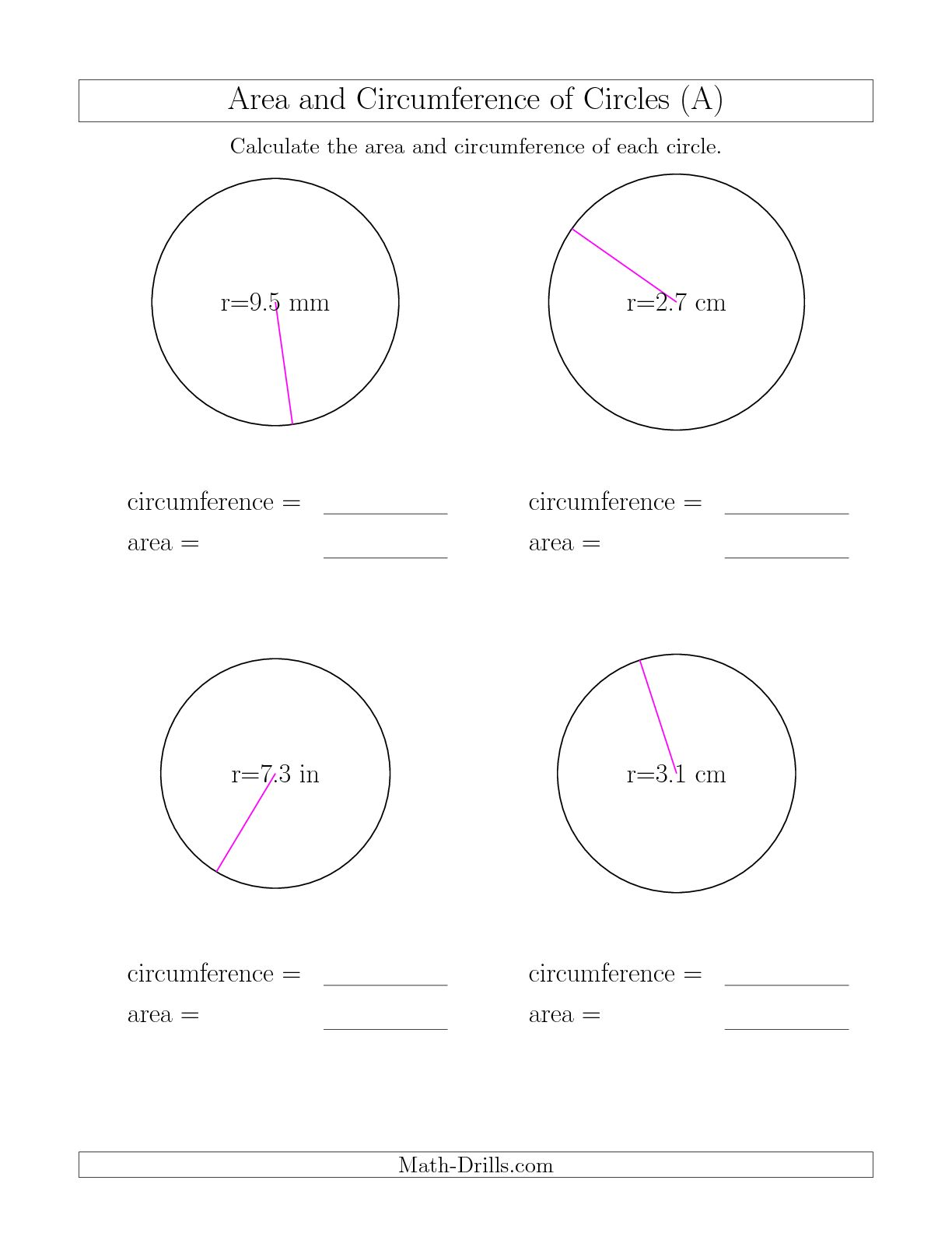 12 Best Images Of Geometry Circle Worksheets