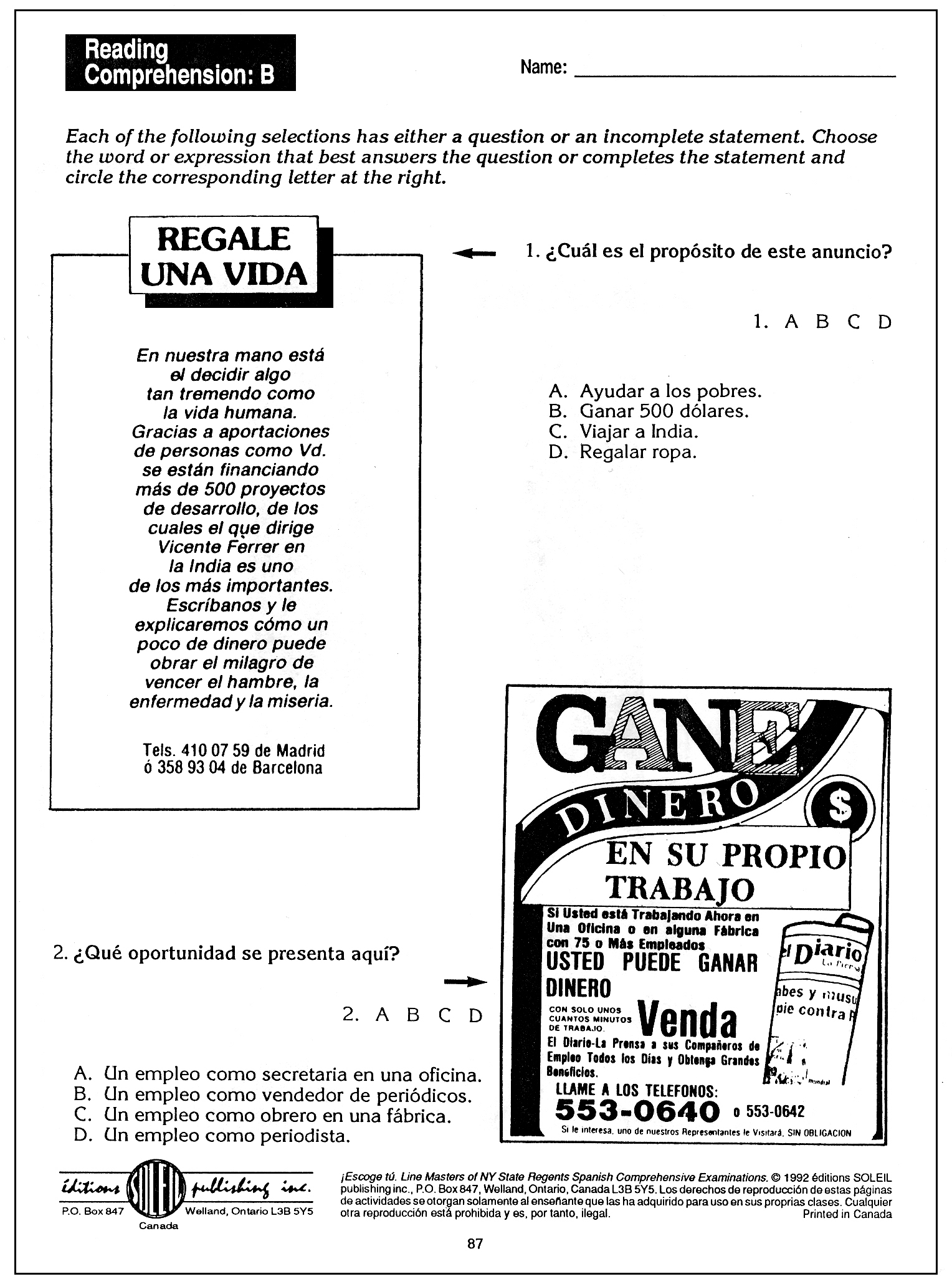 13 Best Images Of Reproducible Student Worksheet