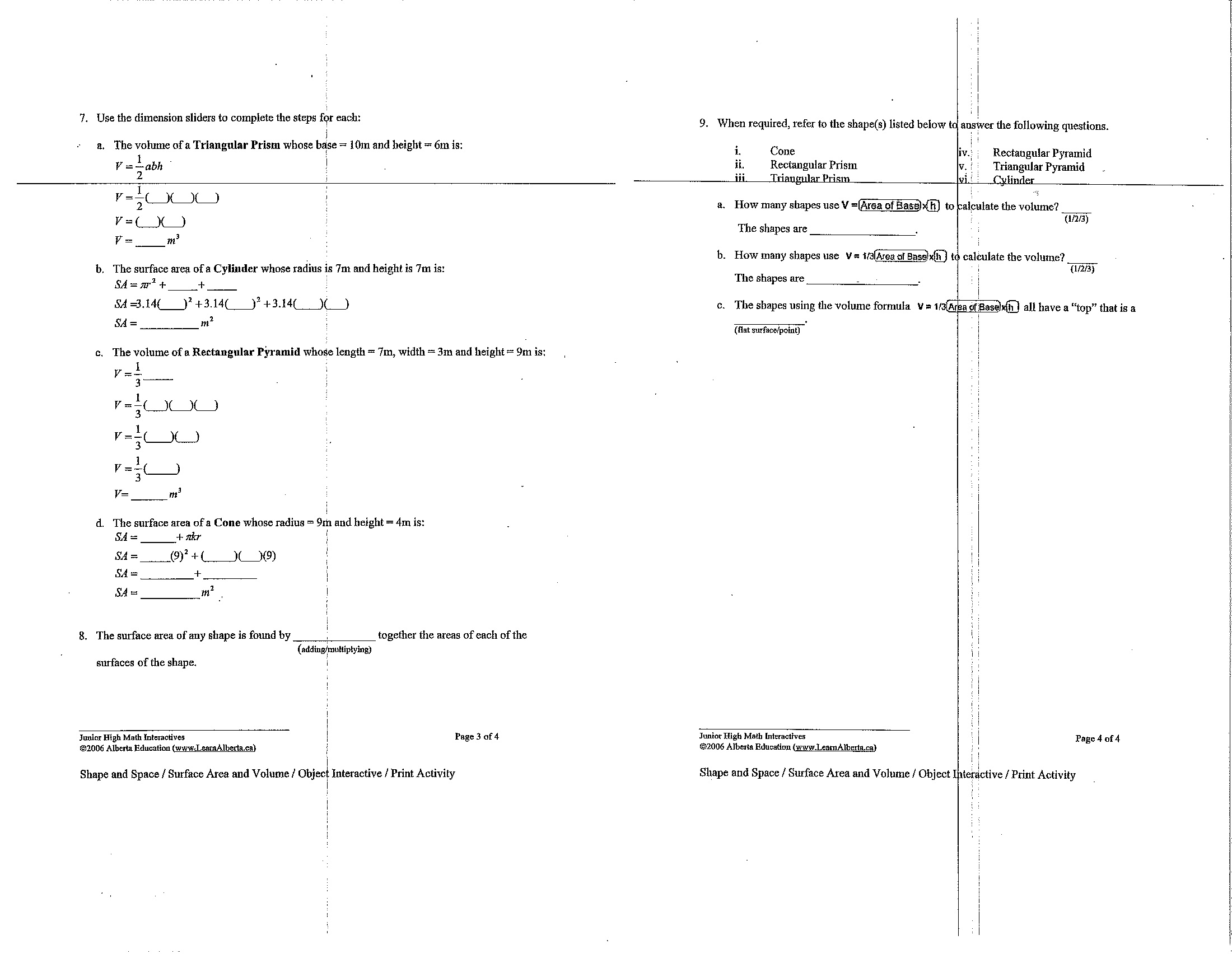8 Best Images Of Composite Area Worksheet