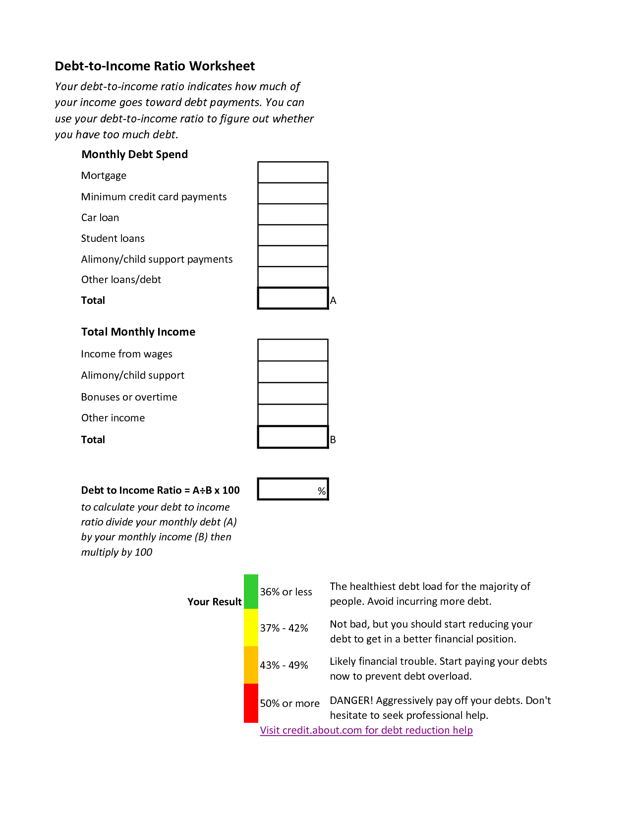 Blank Insolvency Worksheet