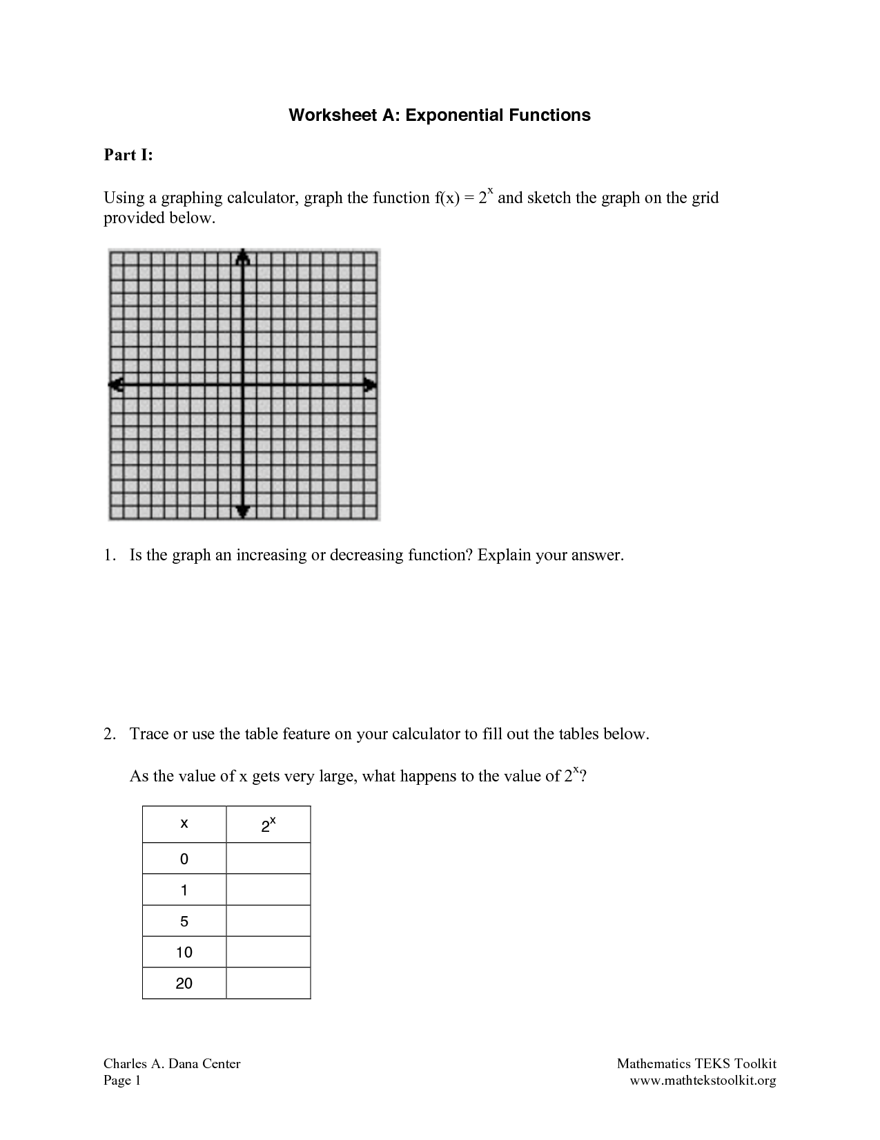 Blank Array Worksheet