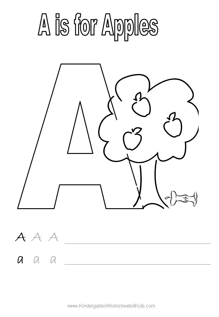 14 Best Images of Trace Name Worksheets - Alphabet Letter ... | alphabet coloring worksheets for kindergarten