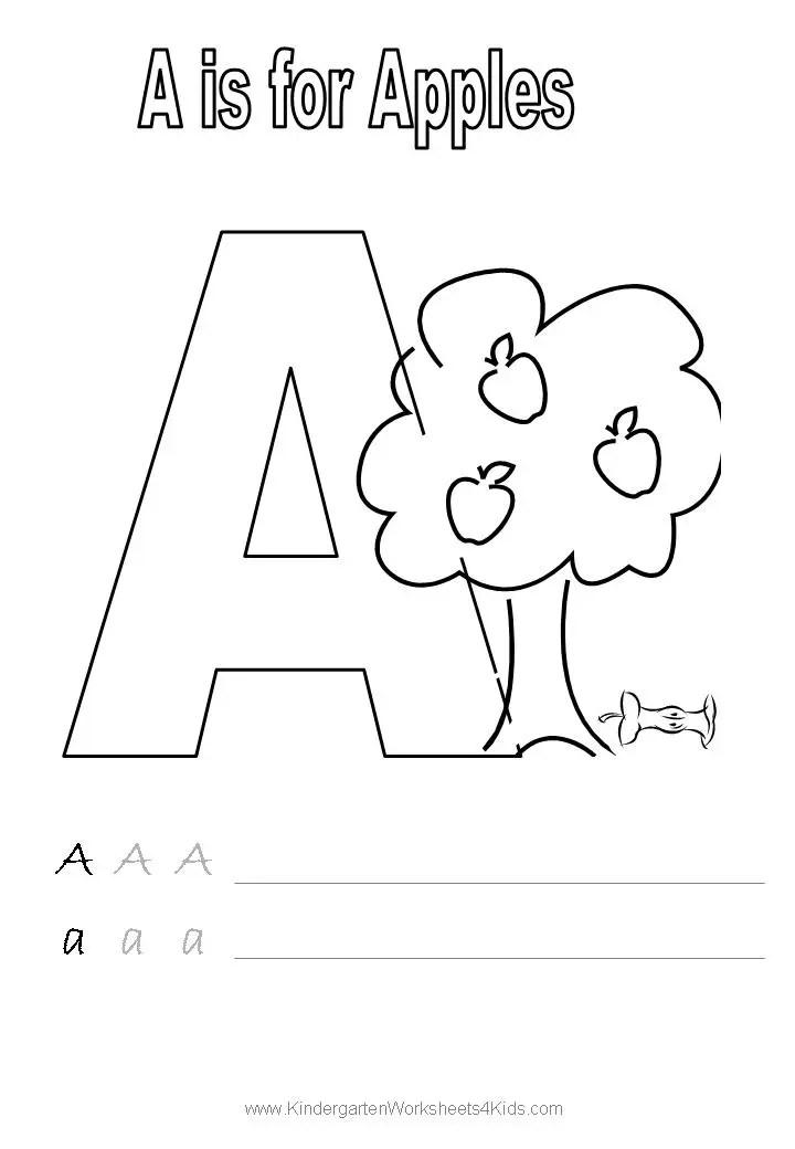 14 Best Images of Trace Name Worksheets - Alphabet Letter ... | alphabet coloring worksheets for kindergarten
