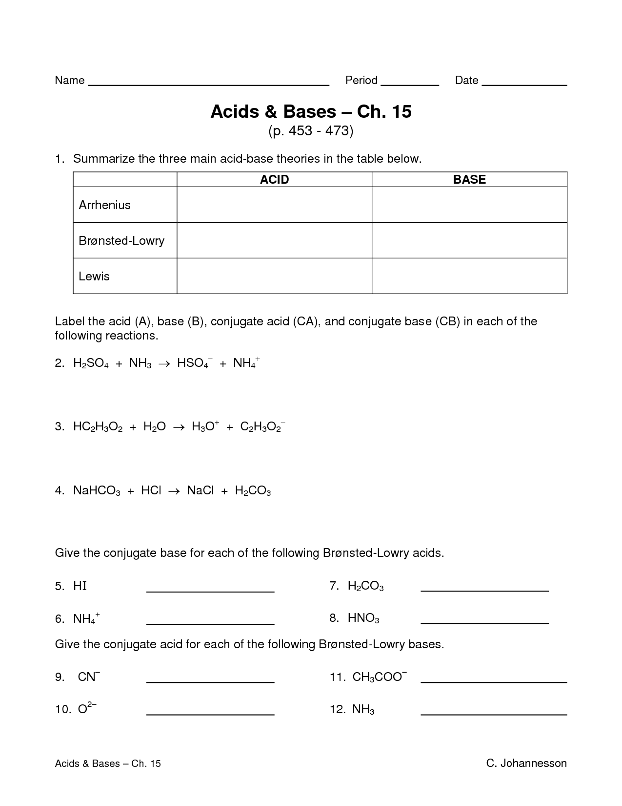 Worksheet Acids And Bases Worksheets Worksheet Fun