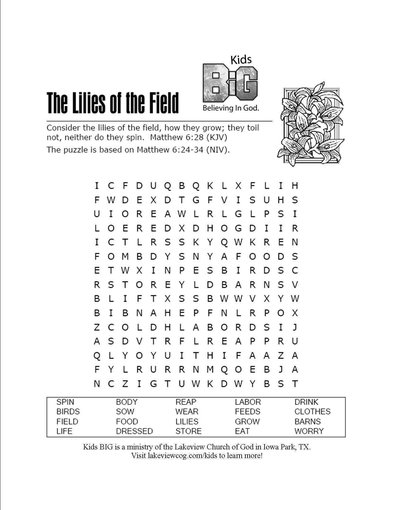 15 Best Images Of Printable Kjv Bible Worksheets